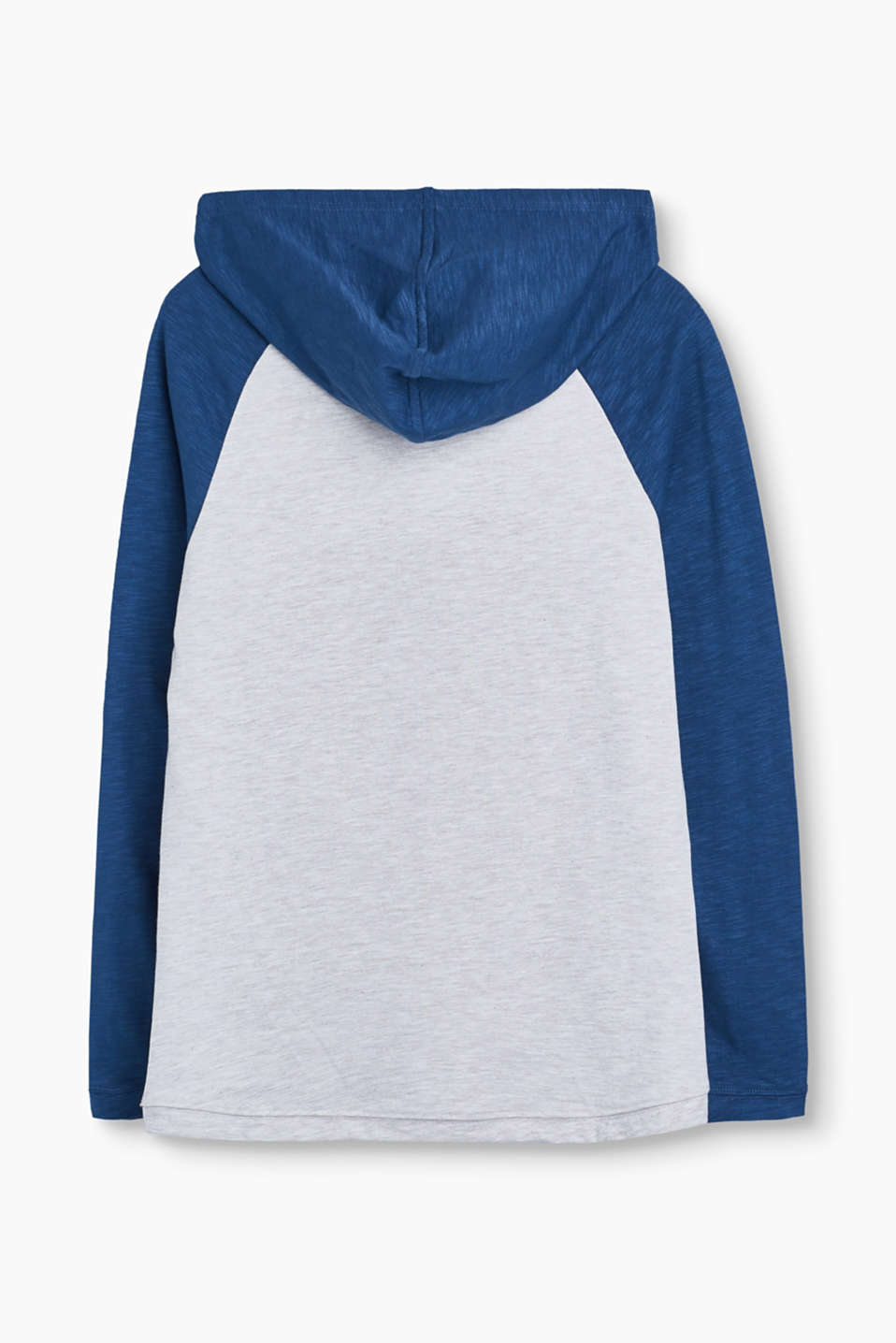 Hooded top with flock print
