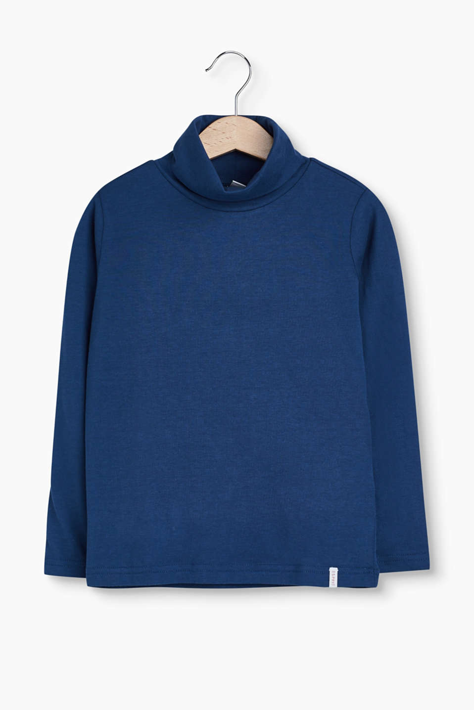 This long sleeve polo neck jumper in soft jersey is a versatile essential piece that is easy to mix and match.