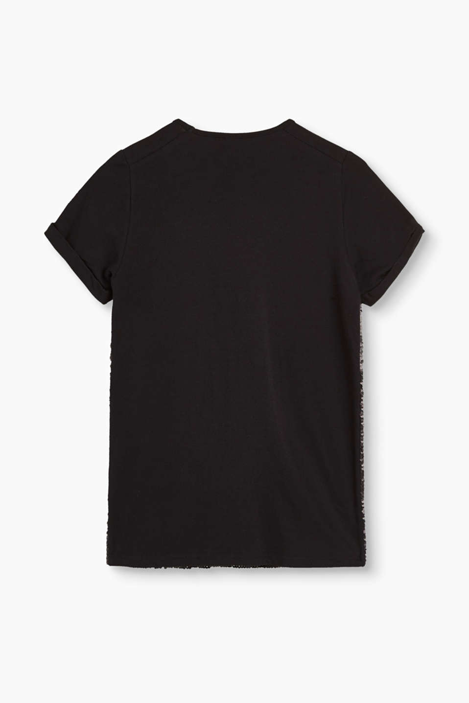 Sequined T-shirt in stretch cotton