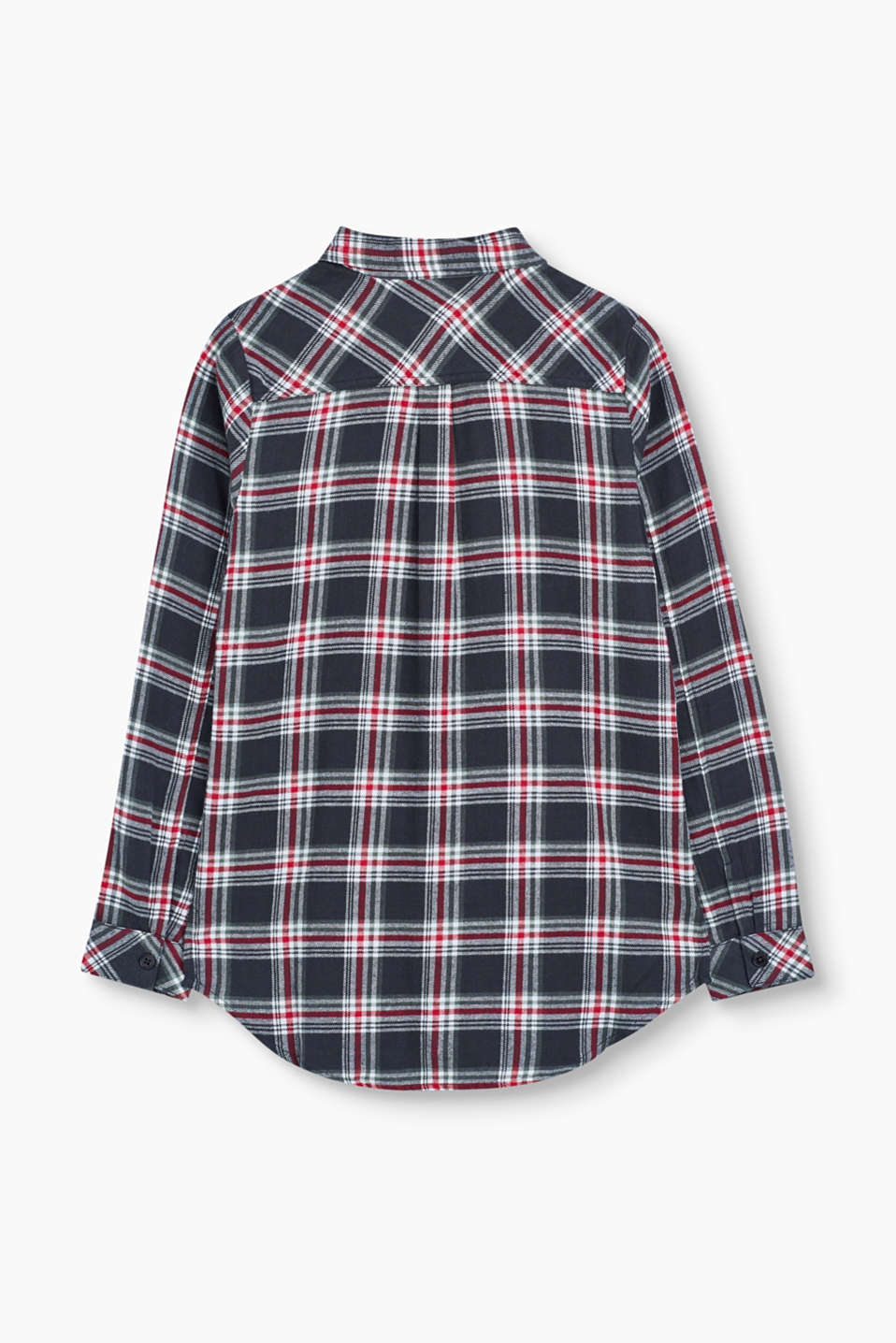 Soft check blouse in 100% cotton