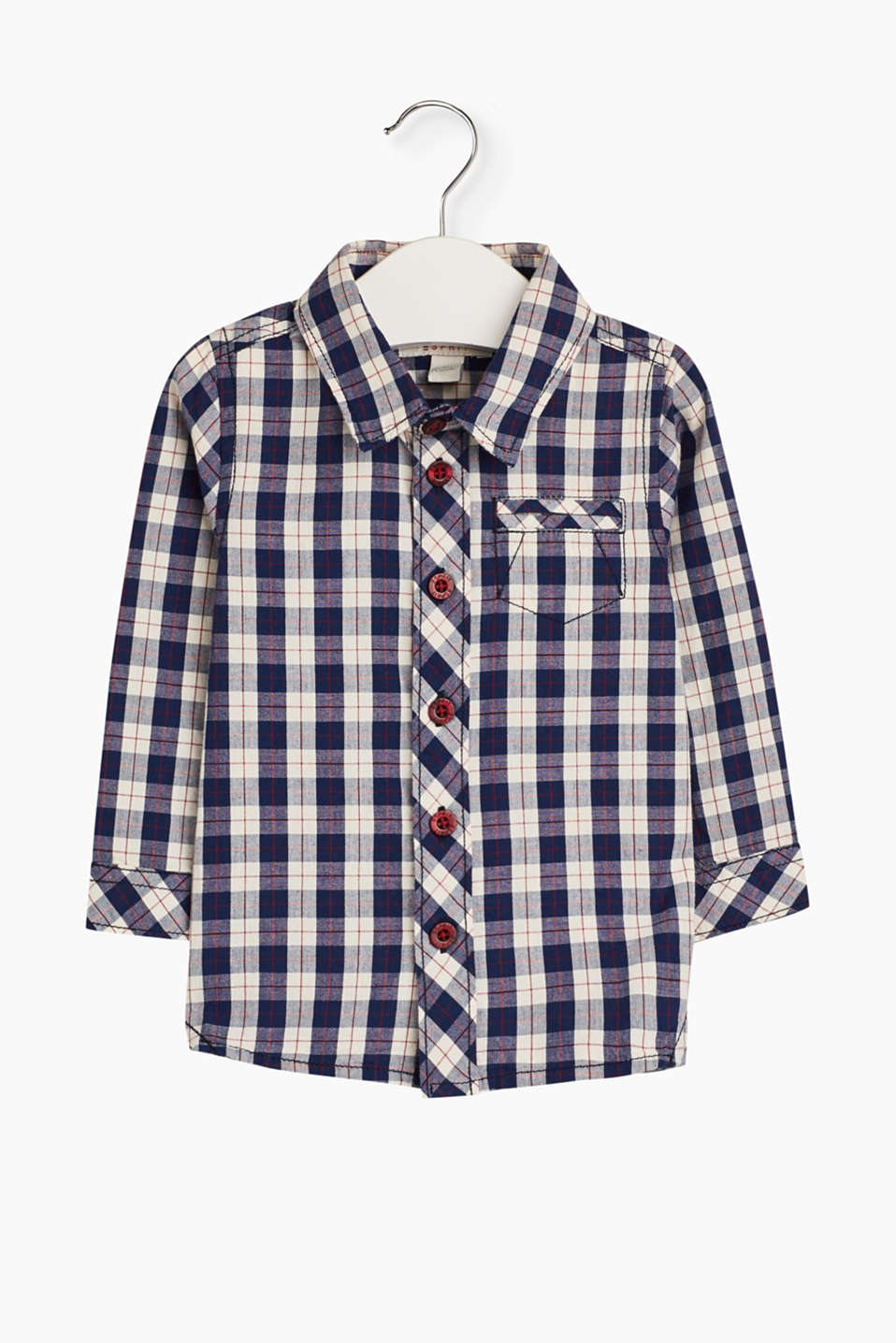 Casual lumberjack look for the little ones: This check shirt boasts skin-friendly cotton fabric