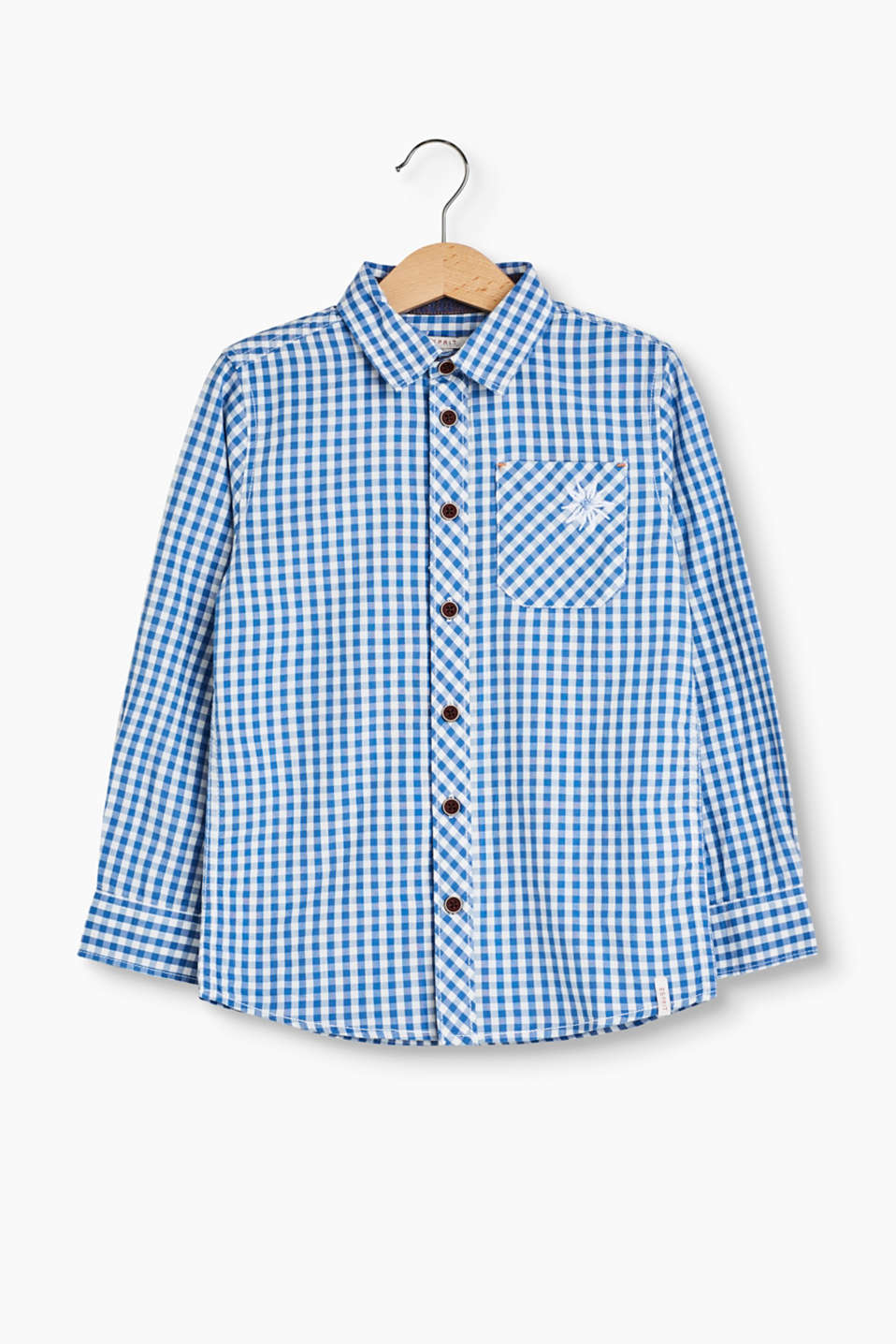 Off to Oktoberfest! In this soft cotton shirt in typical Bavarian Oktoberfest style