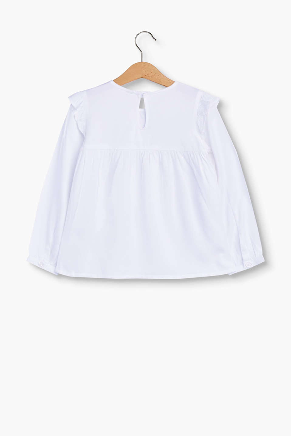 Floaty blouse with frills and pintucks