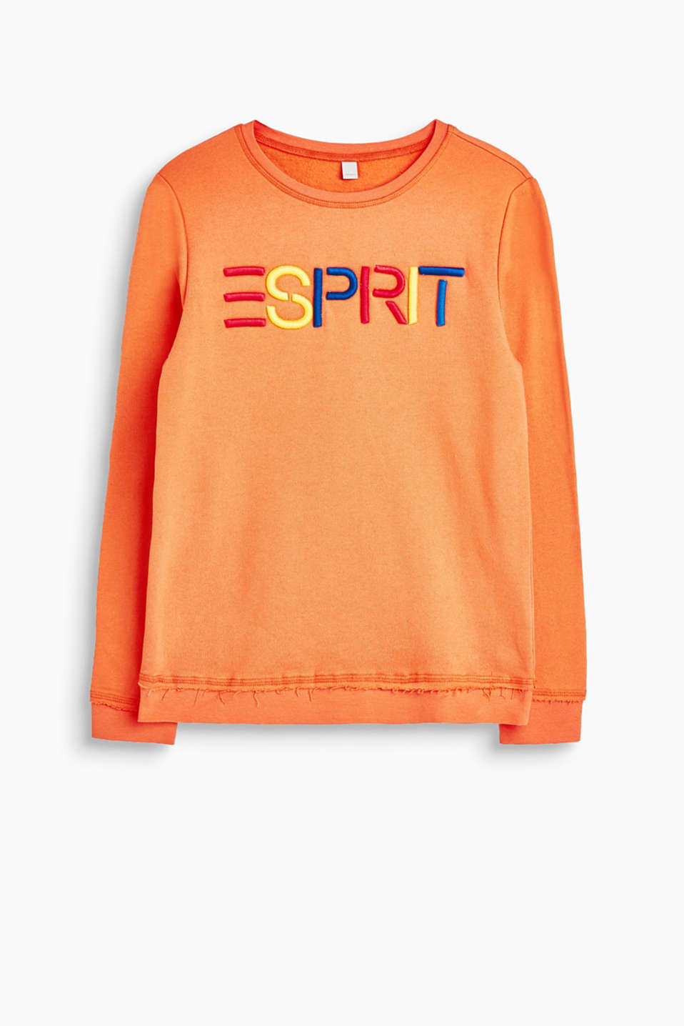 Esprit - Sweatshirt with vibrant 3-d logo embroidery