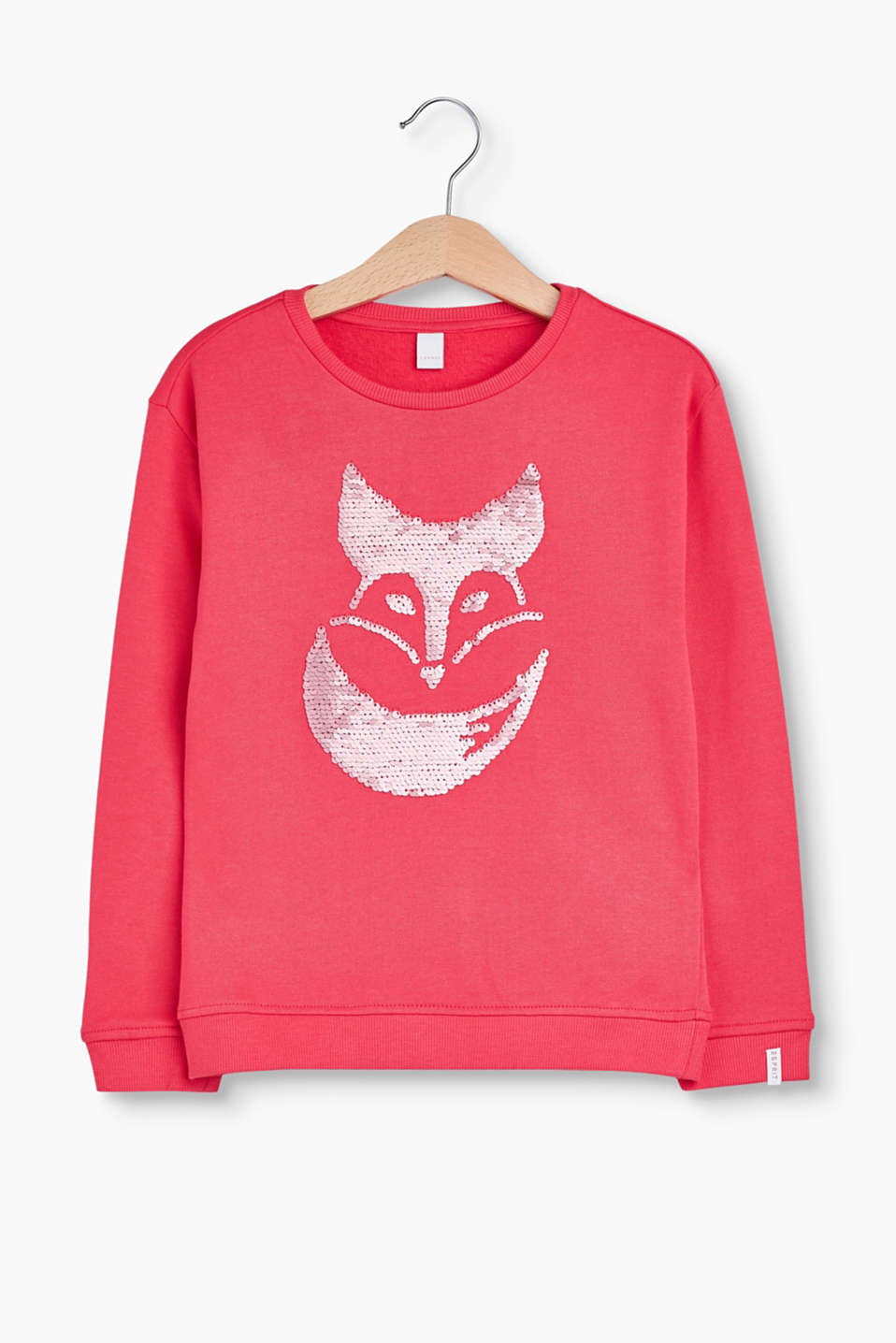 This sweatshirt with its dazzling reversible sequins guarantees the fun factor and glamour!