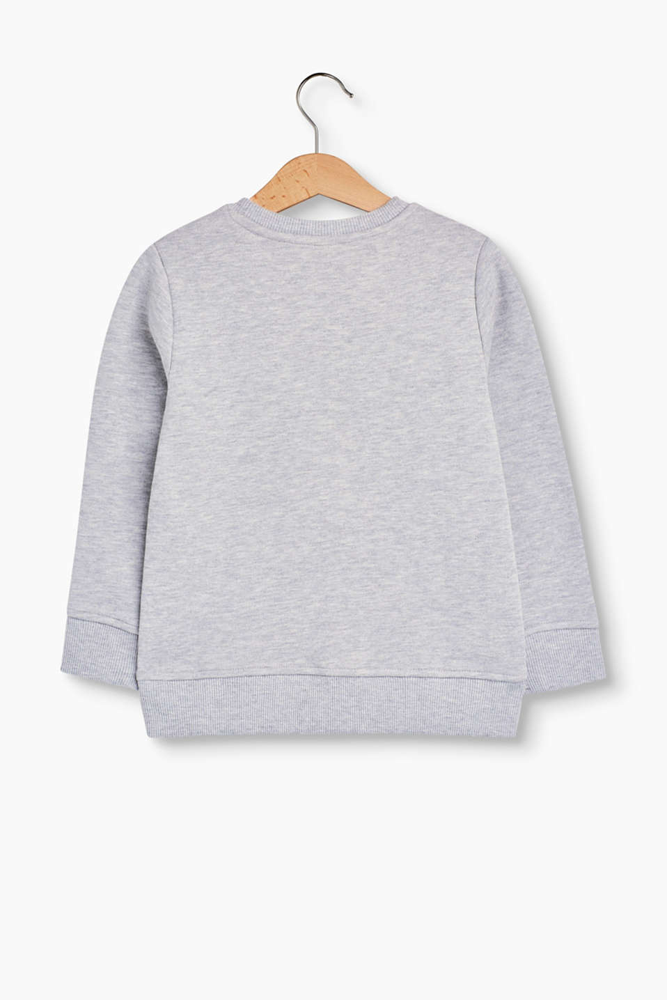 Melange cotton blend printed sweatshirt