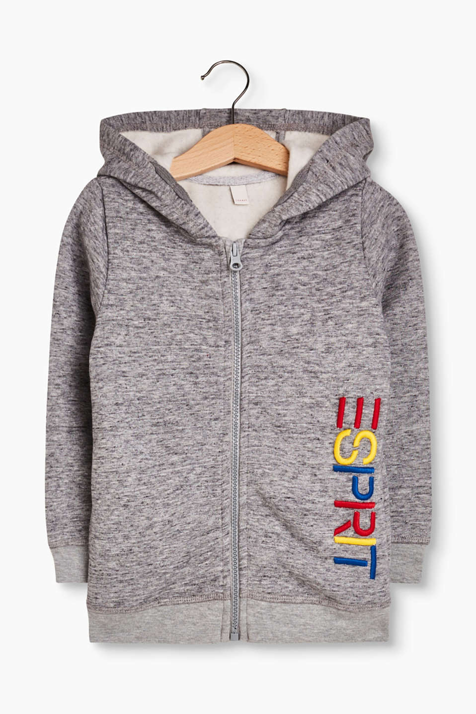 Esprit - Hoodie with a 3-d embroidered logo