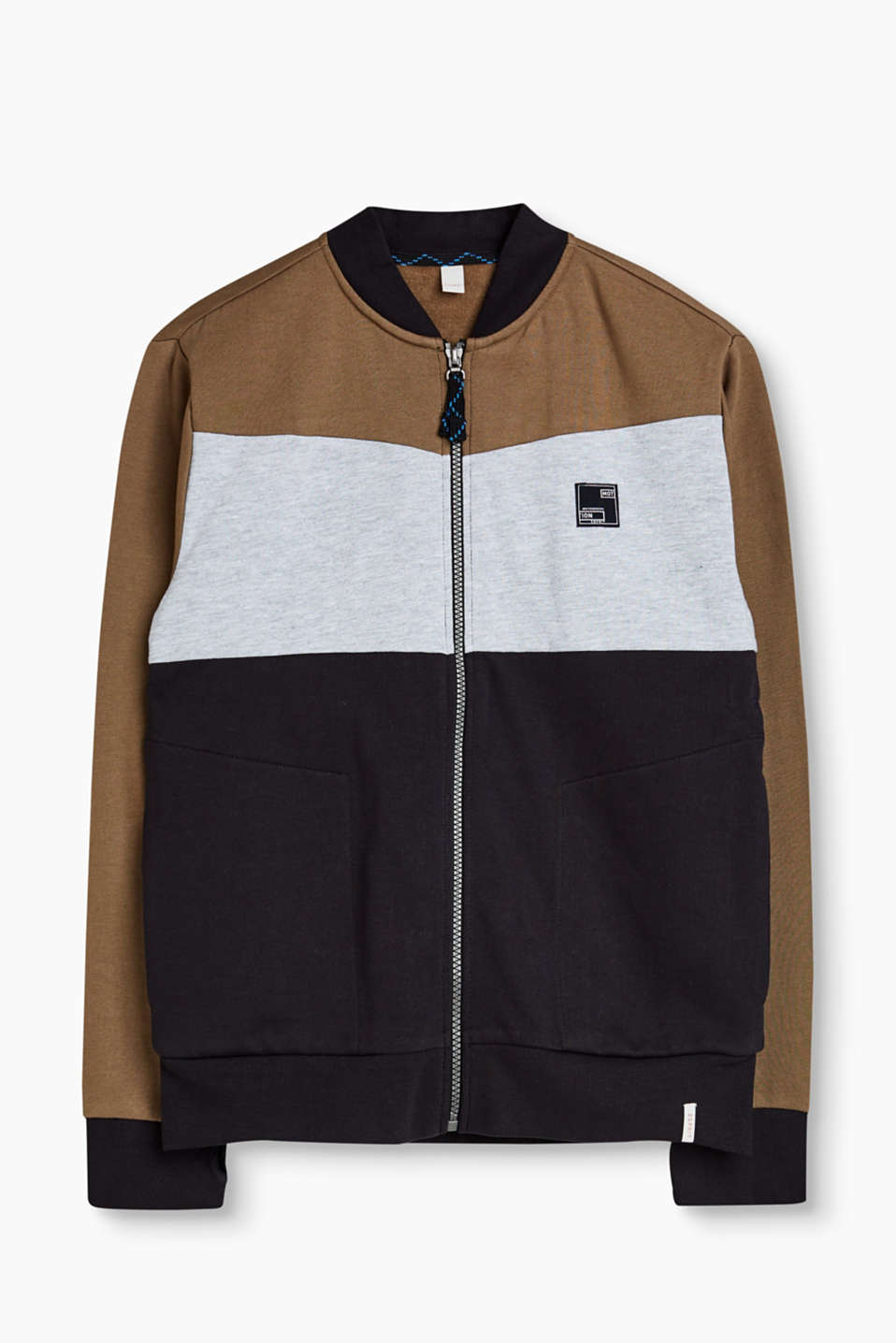 Esprit - Sweatshirt jacket in 100% cotton