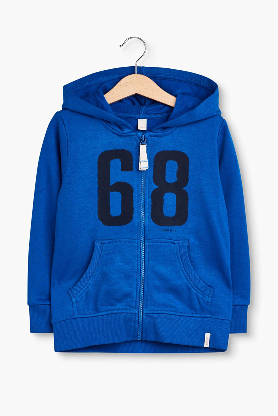 Esprit - Sweatshirt jacket with printed numbers