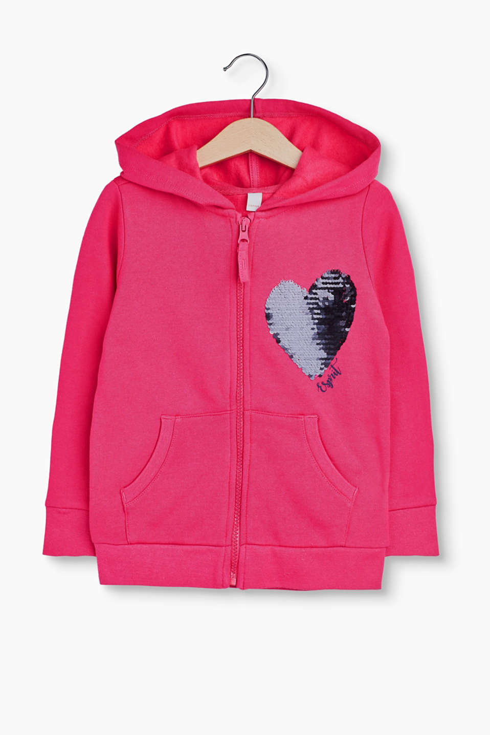 This hoodie with dazzling reversible sequins provides a touch of glamour and fun at the same time!