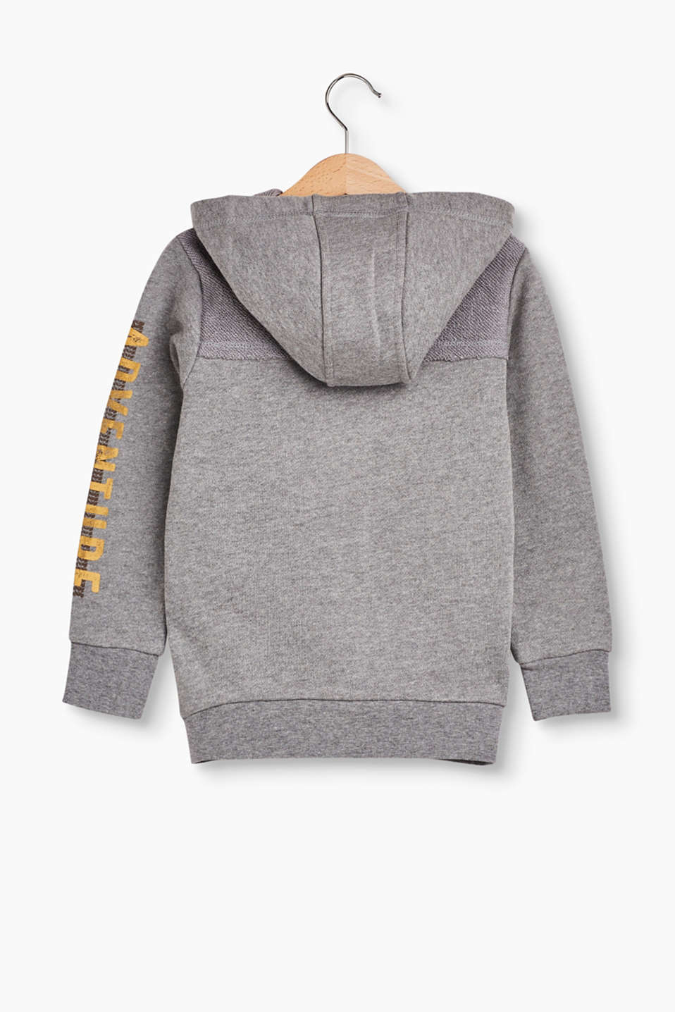 Hooded sweatshirt jacket, inside-out effect