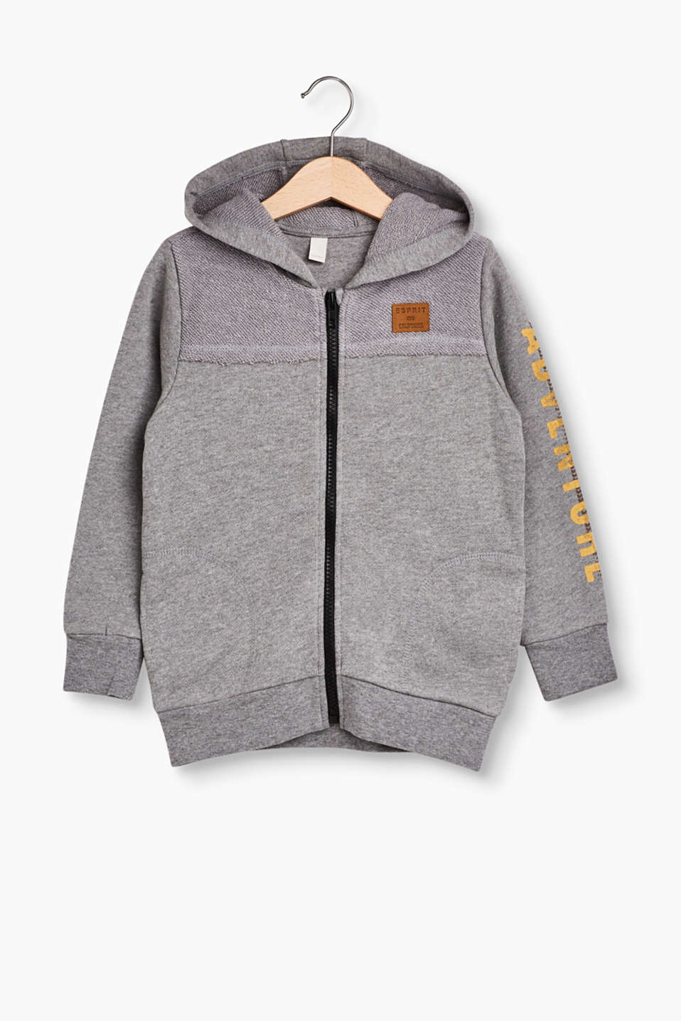 Esprit - Hooded sweatshirt jacket, inside-out effect