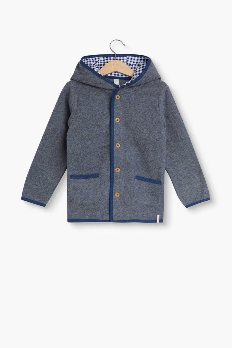 Soft fleece cardigan with Oktoberfest details