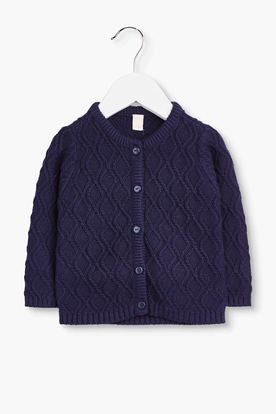 This beautifully shaped knit cardigan in 100% cotton with button placket perfectly rounds off any outfit worn by little ones