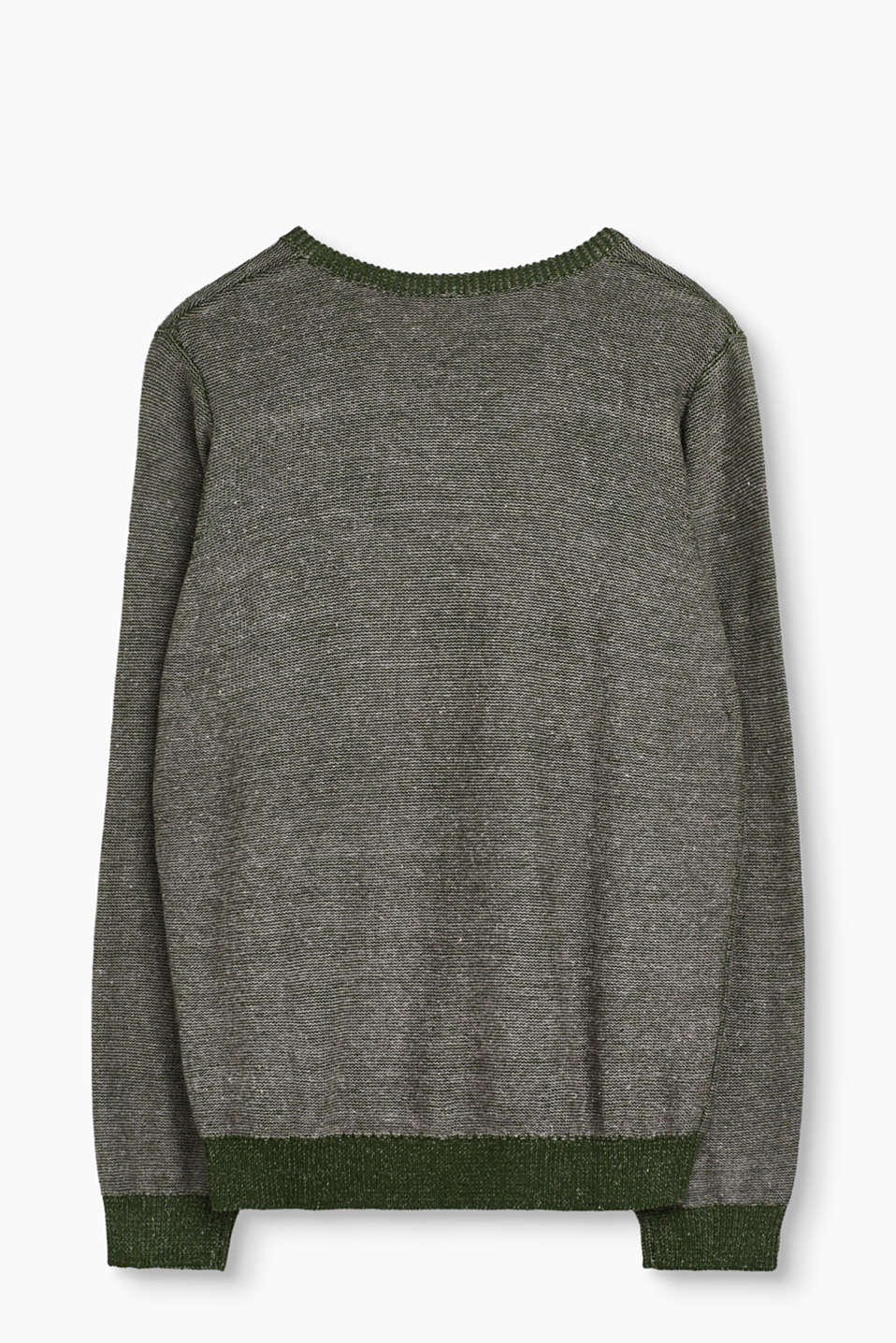 Blended cotton jumper with strong intarsia