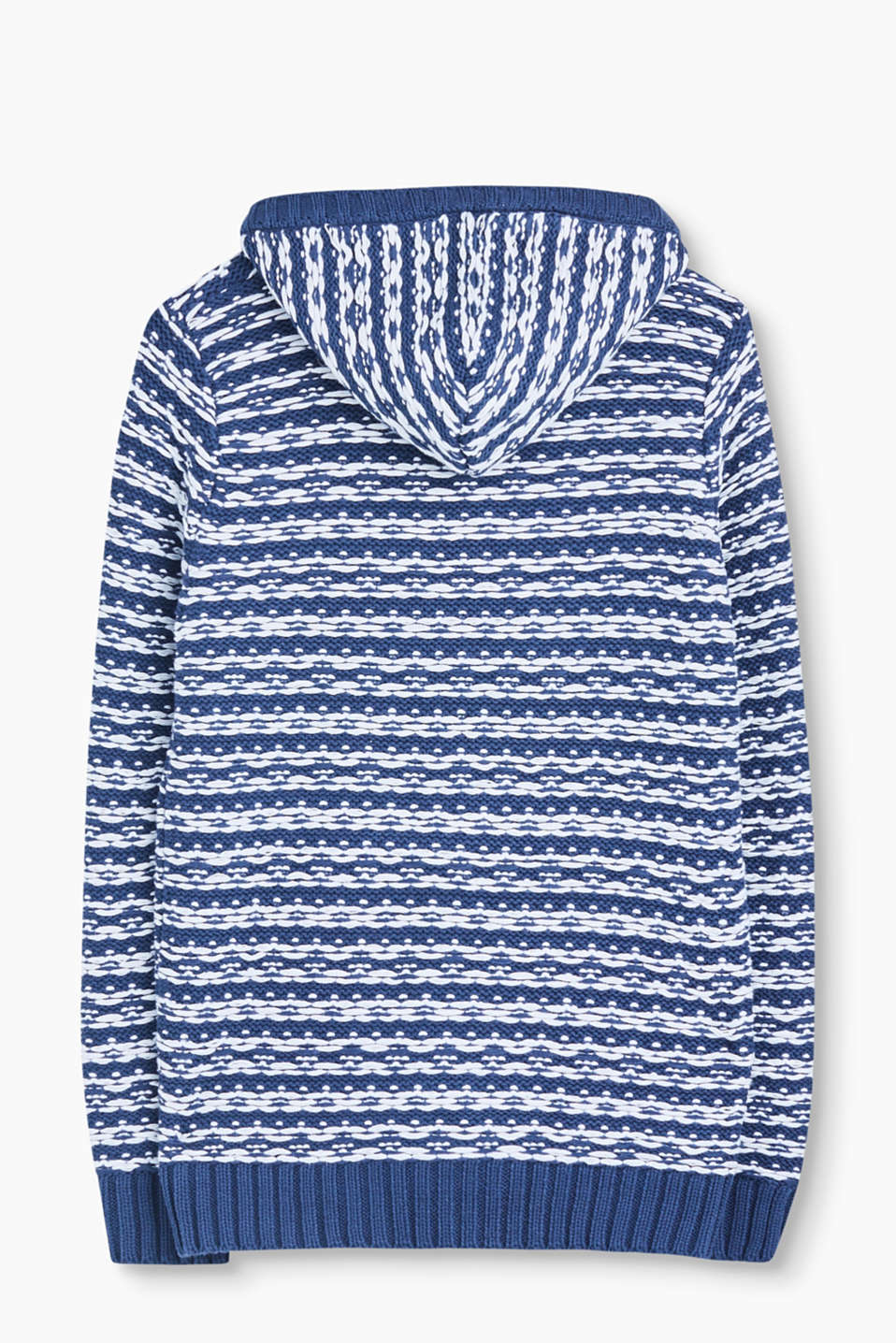 Hooded cardigan in blended cotton