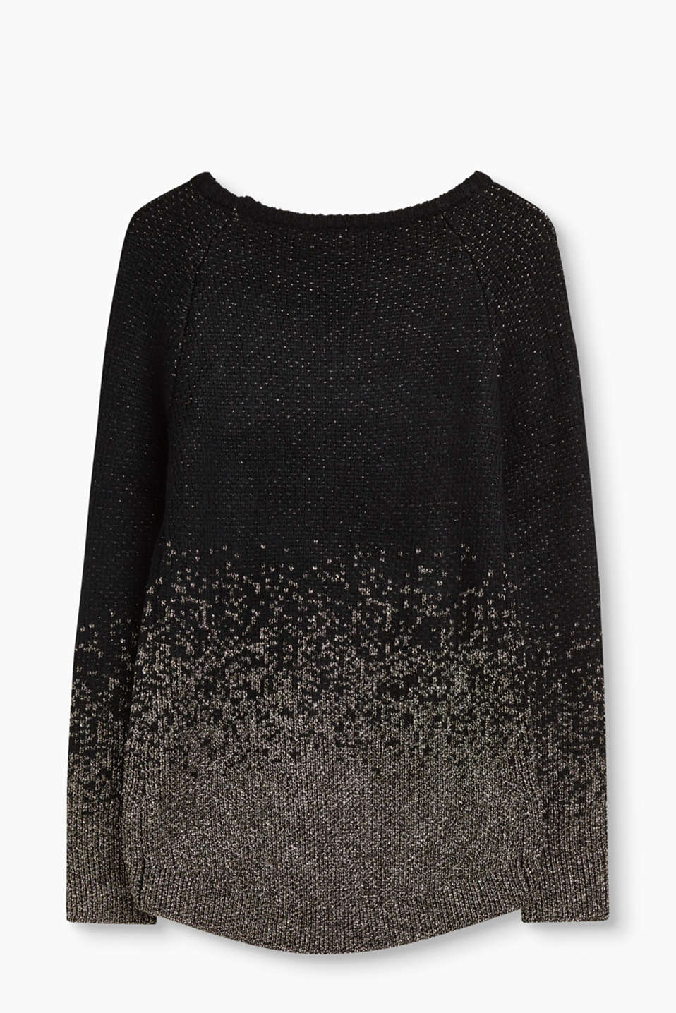 Textured jumper with lurex effects