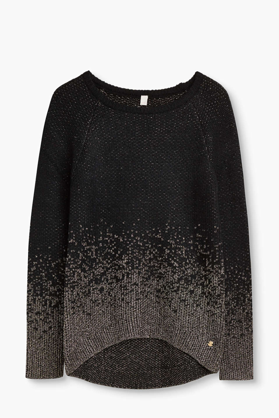 Esprit - Textured jumper with lurex effects