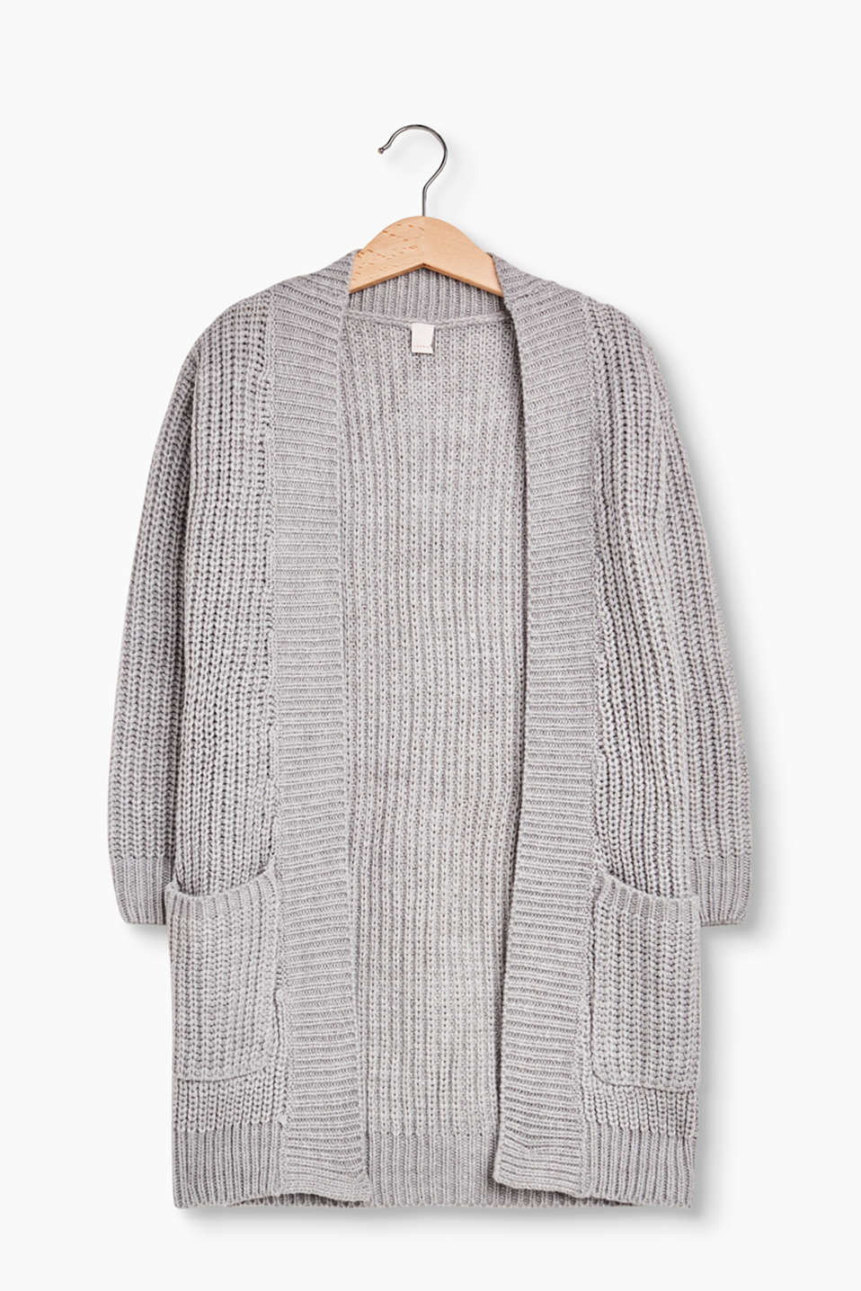 Esprit - Long ribbed knit cardigan