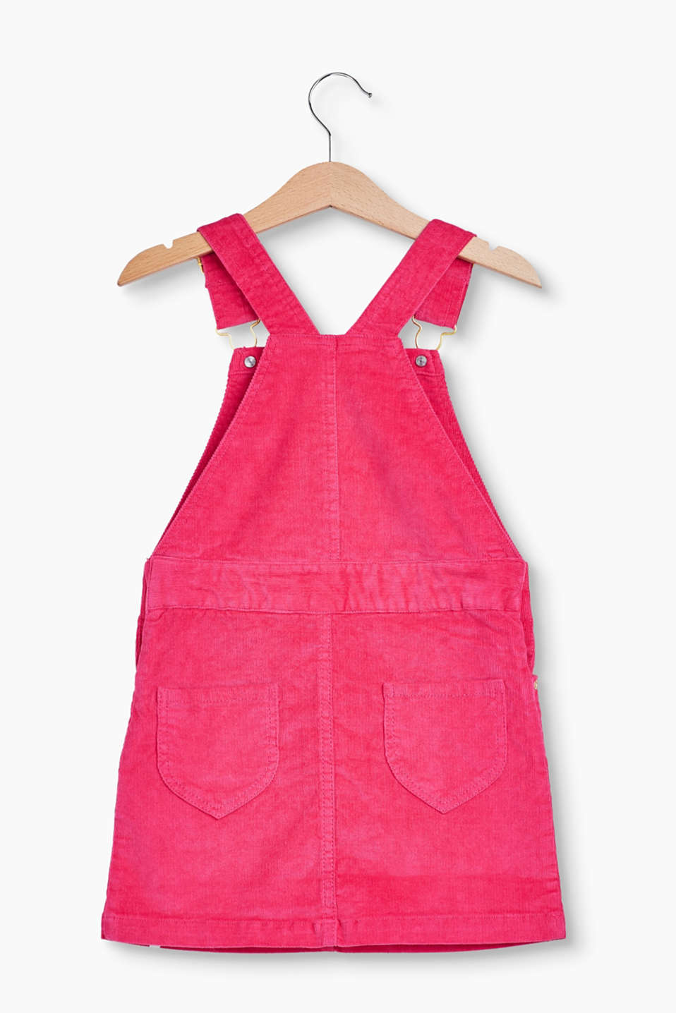 Velvety dungarees made of stretch cotton