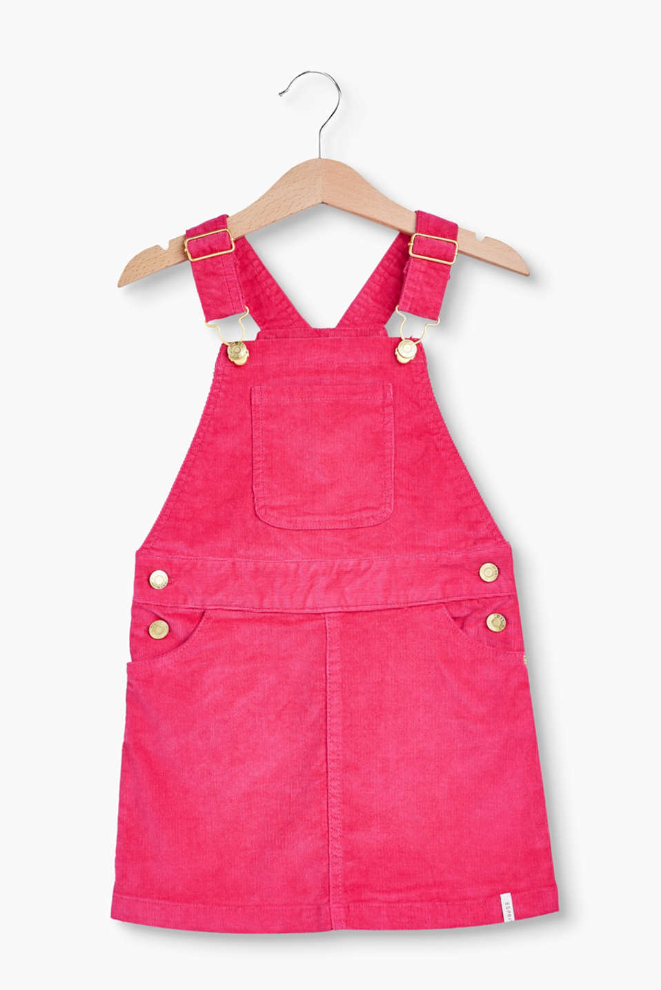 Esprit - Velvety dungarees made of stretch cotton
