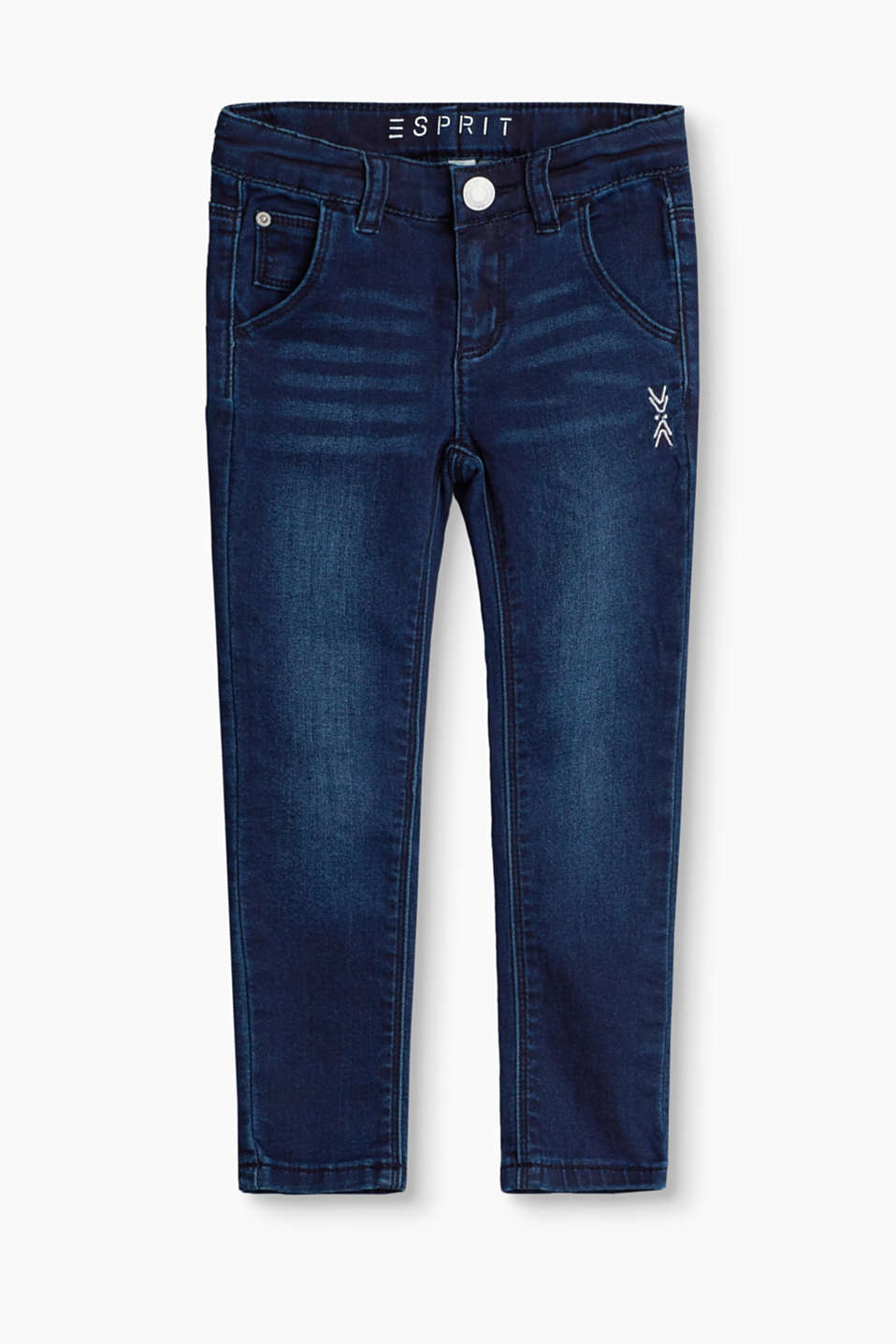 Esprit - Stretch jeans with metallic embroidery