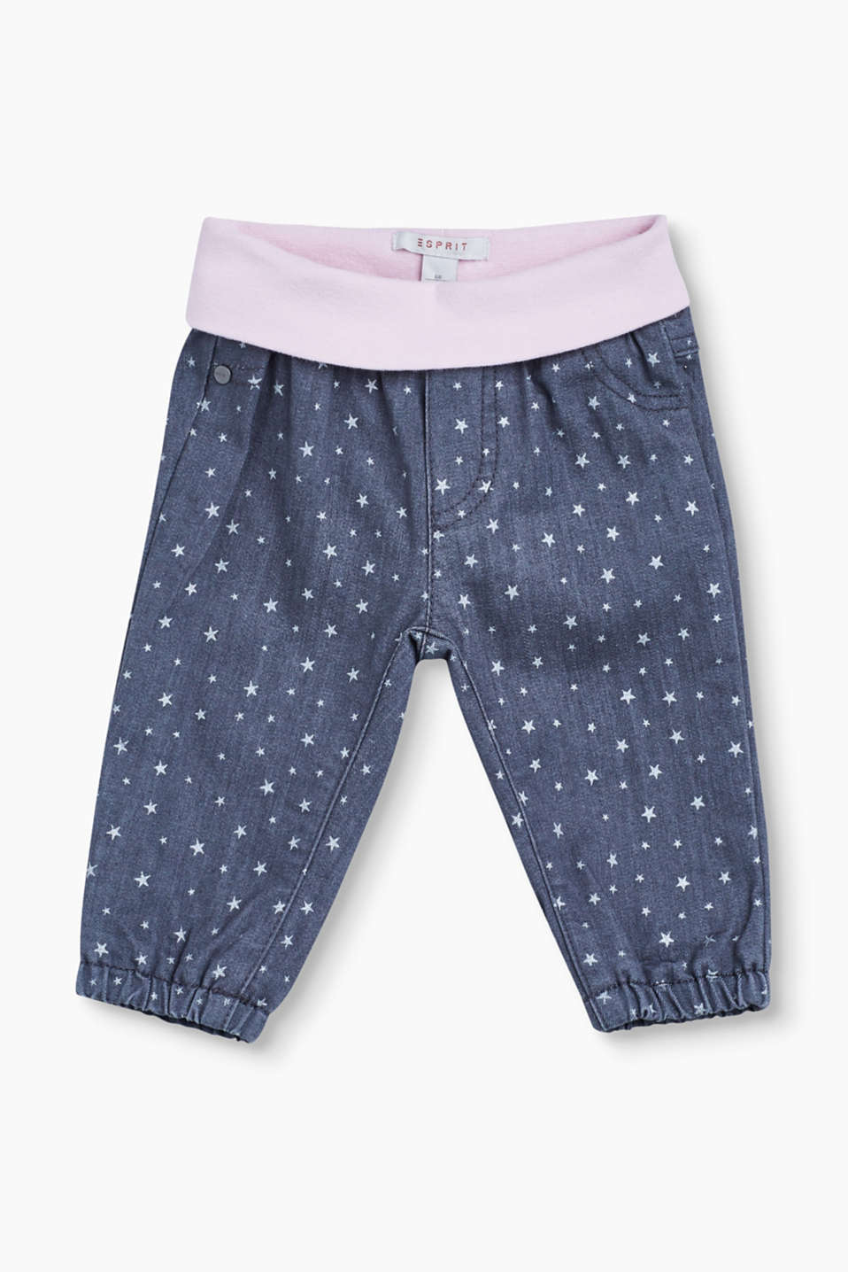 Cute star style for baby girls: The little ones are sure to look like super stars in these soft jeans!