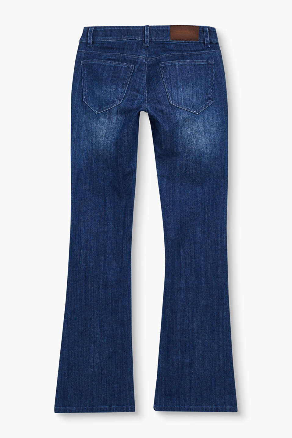 Bootcut jeans with patch pockets
