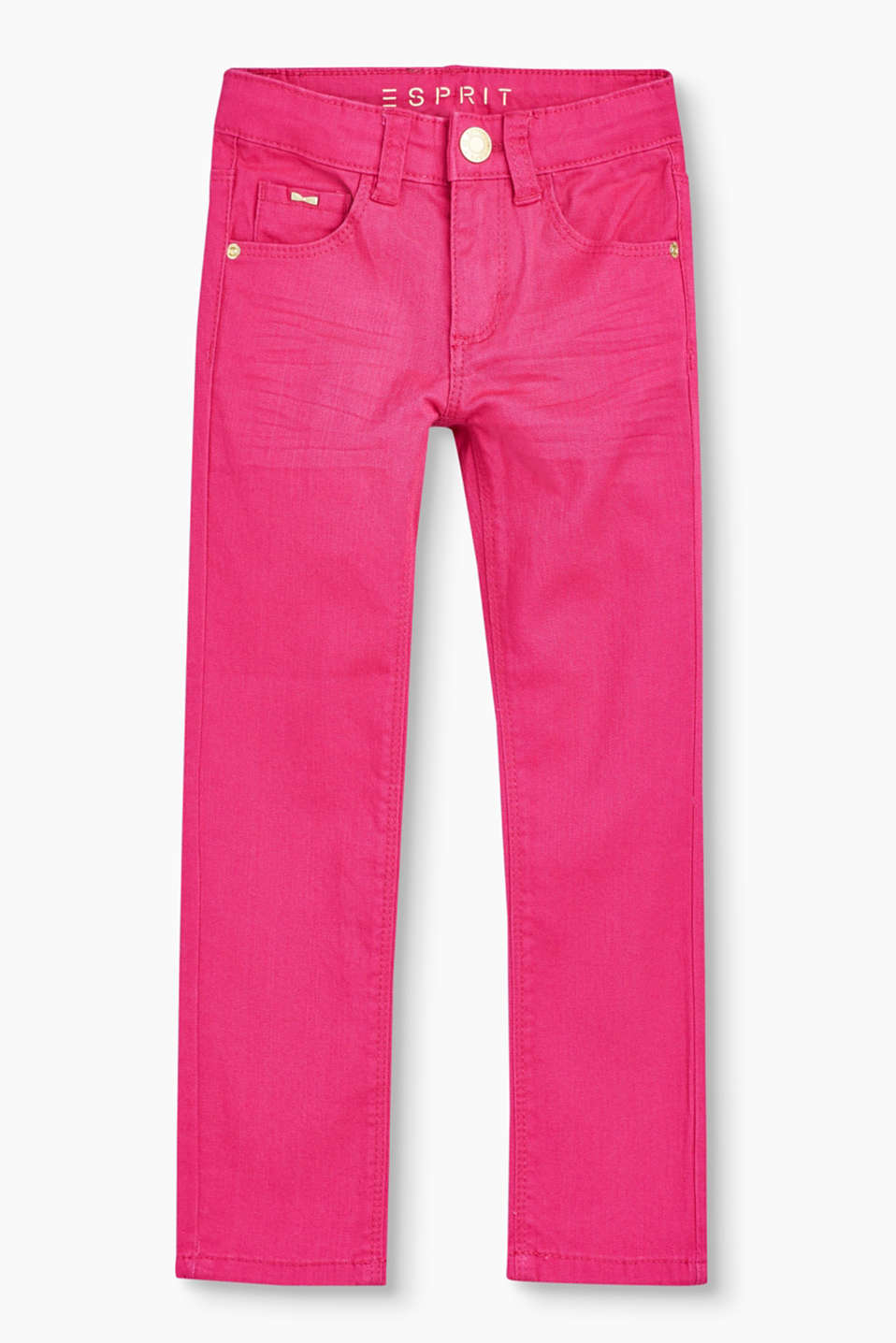 Esprit - Coloured stretch jeans, adjustable waist