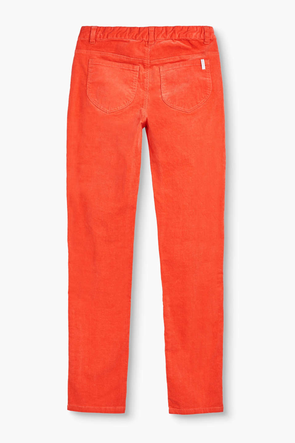 Velvety corduroy trousers in stretchy cotton