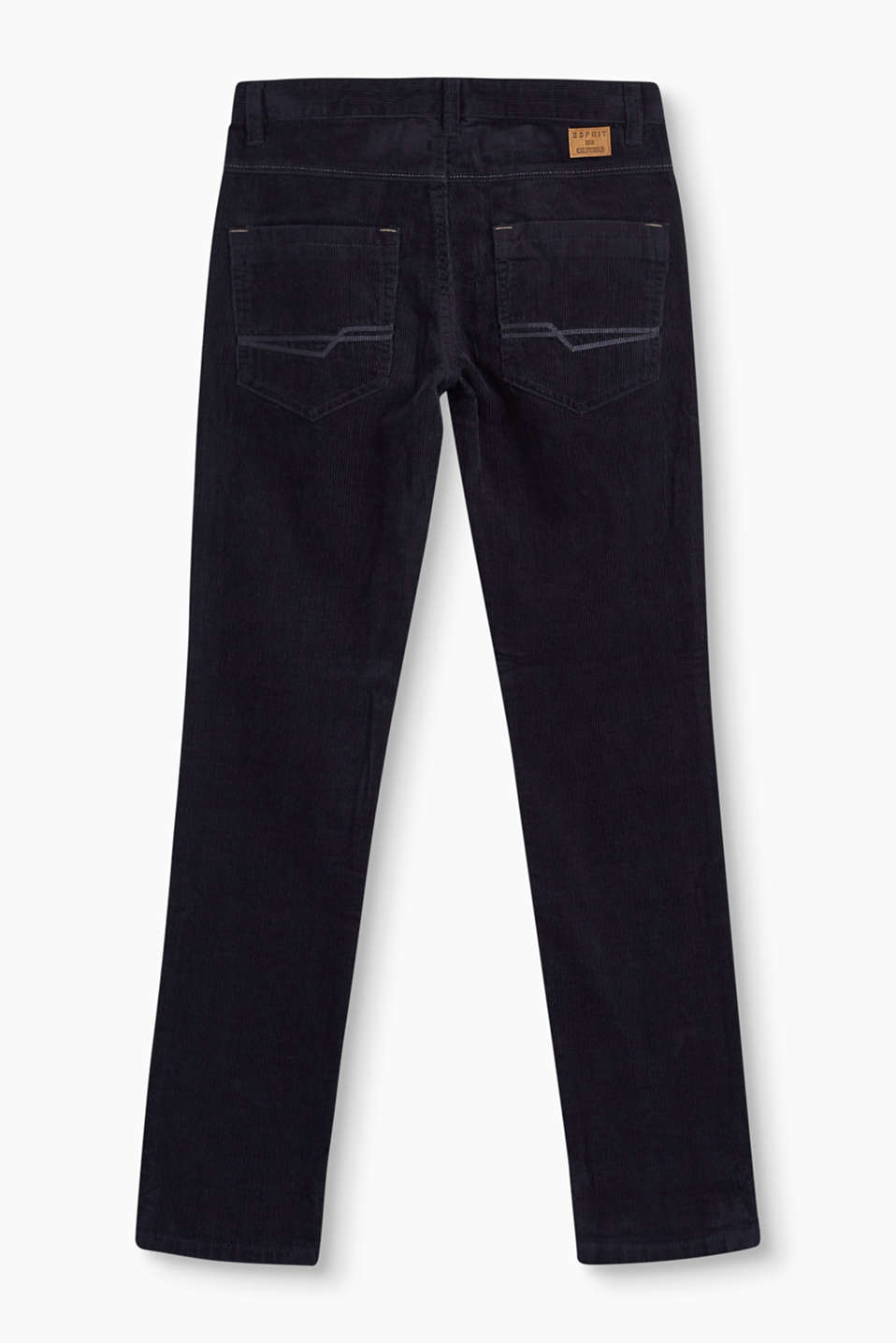 Cotton cord trousers + an adjustable waist