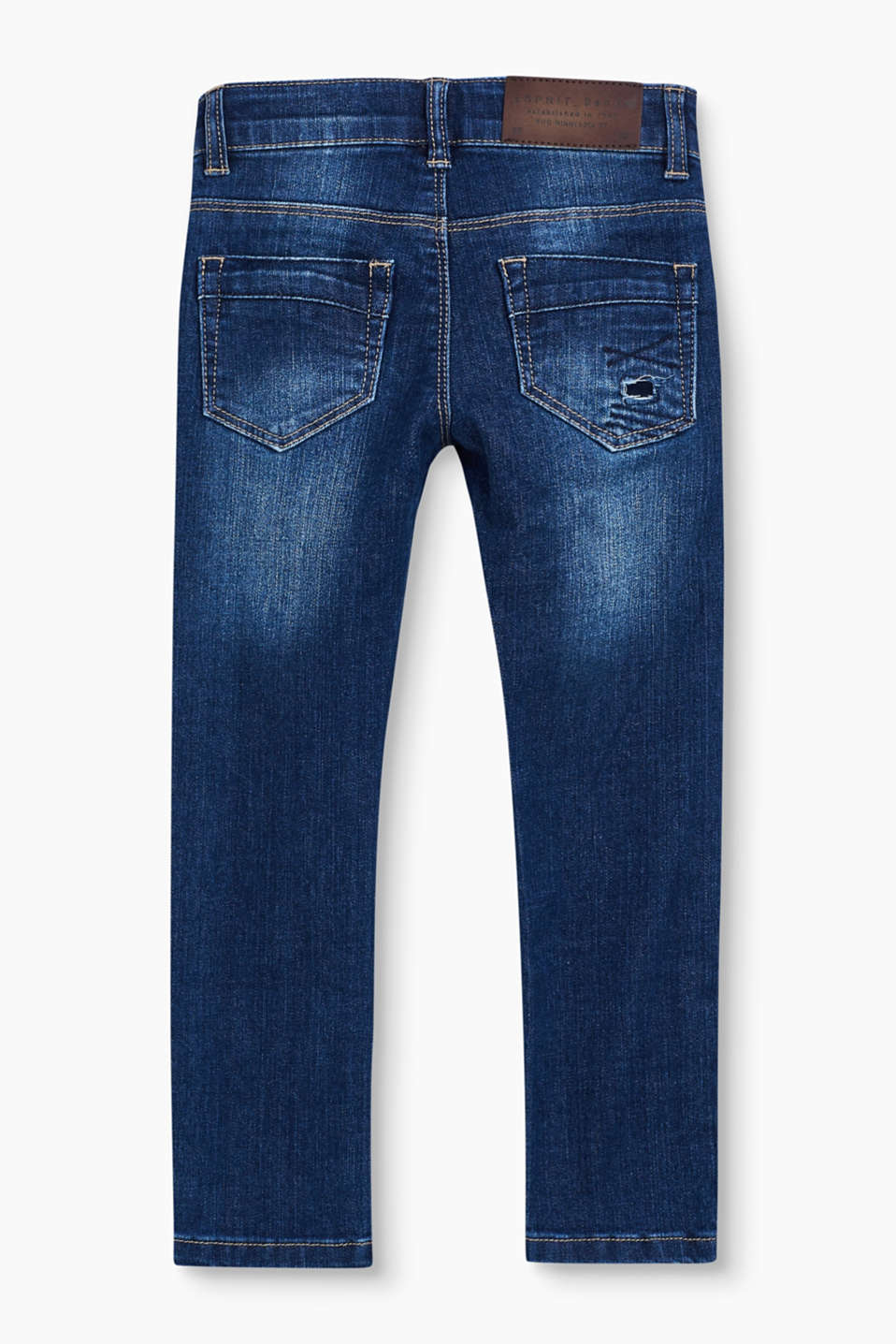 Destroyed stretch jeans