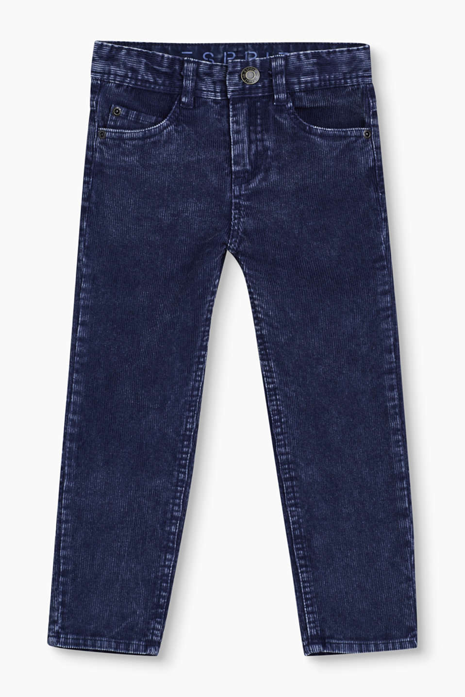 Esprit - Casual corduroy trousers in 100% cotton