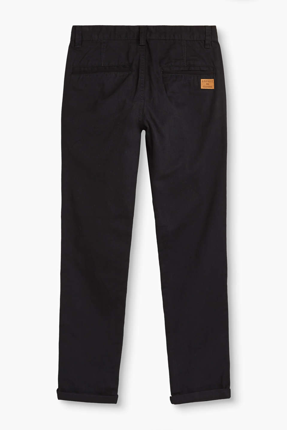 Twill trousers in 100% cotton