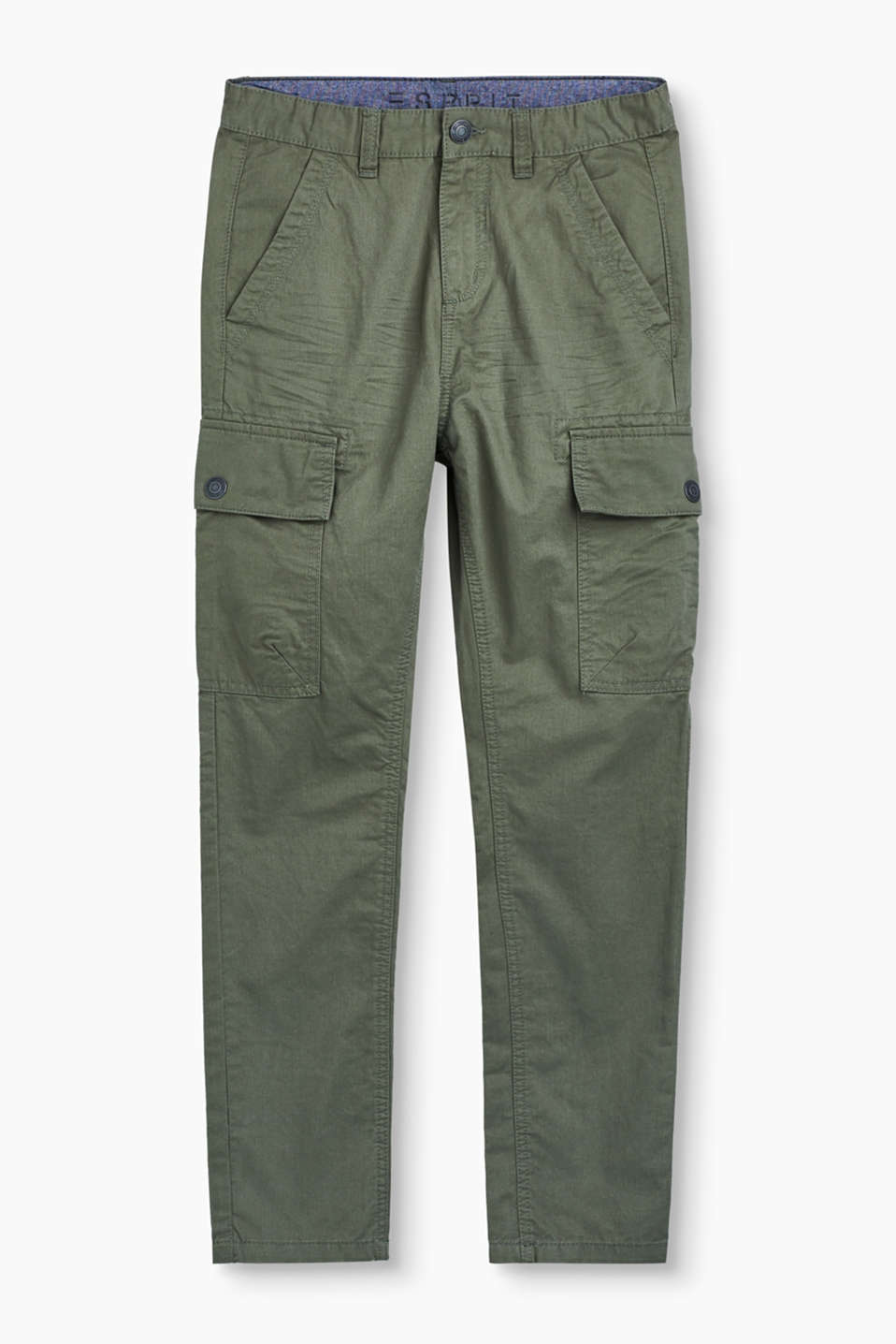 Casual, cool and so comfortable: these soft cotton cargo trousers are a true style highlight.