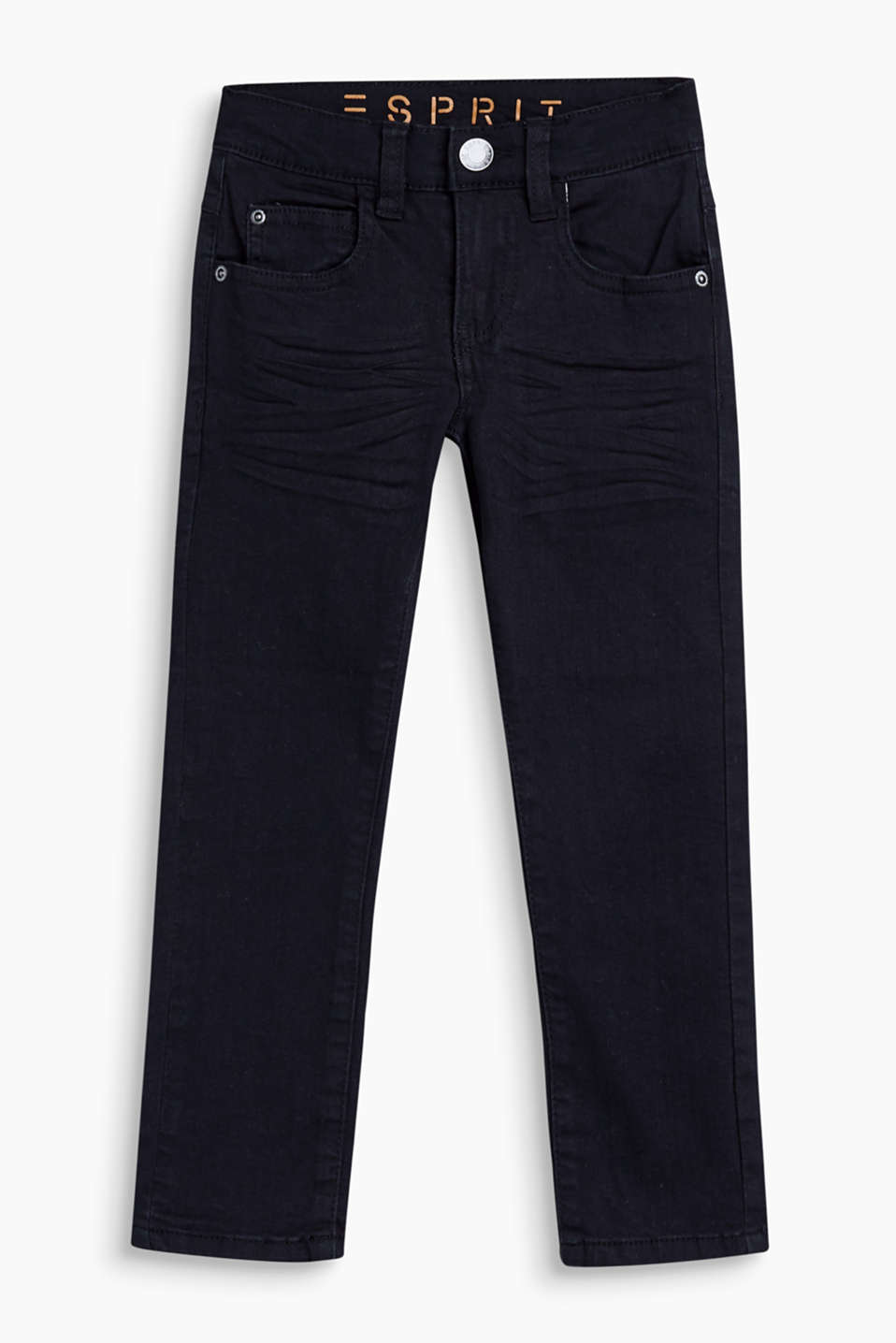 Esprit - 5-pocket-jeans met crinkle effects