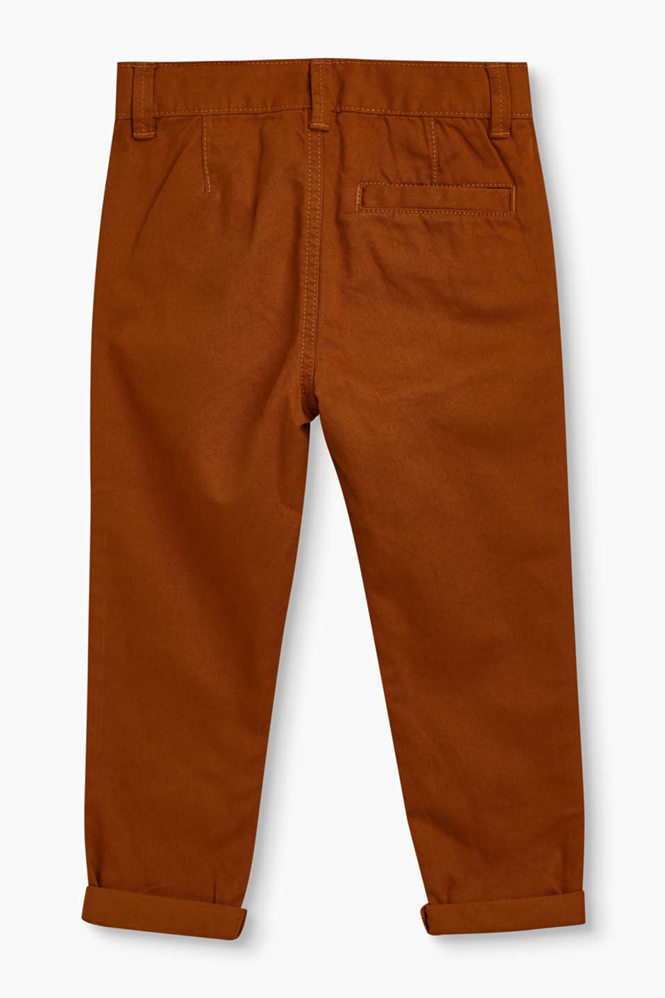 Chinos with adjustable waist, 100% cotton