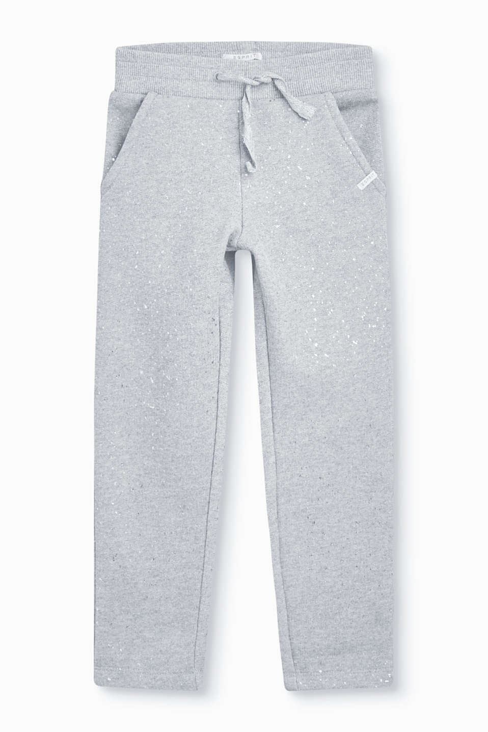 Striking shimmering flecks of colour give these comfortable tracksuit bottoms their stylish look.