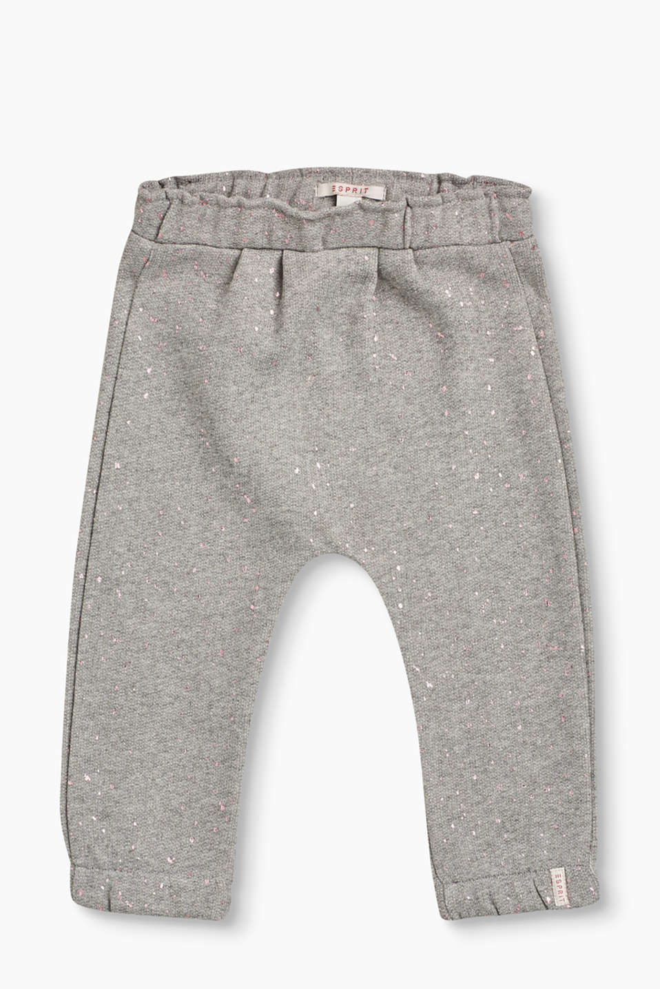 Esprit - Soft sweat trousers + glitter print