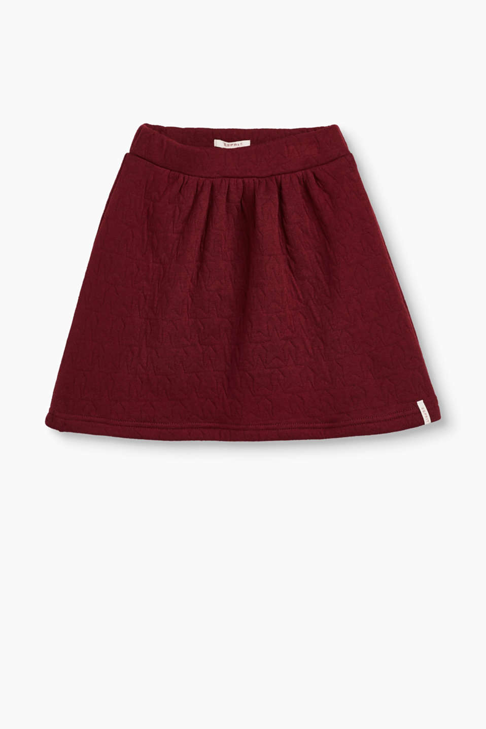Ultra soft, comfortable and trendy: this sweatshirt skirt with a star pattern is the perfect companion for every day.