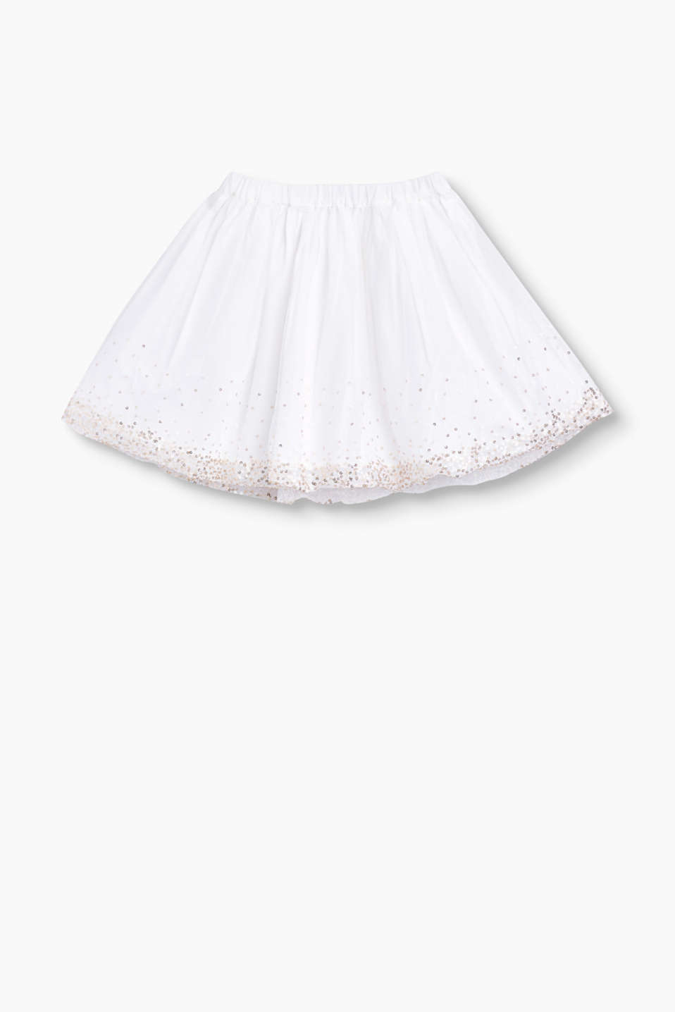 Tulle skirt with sequins and cotton lining
