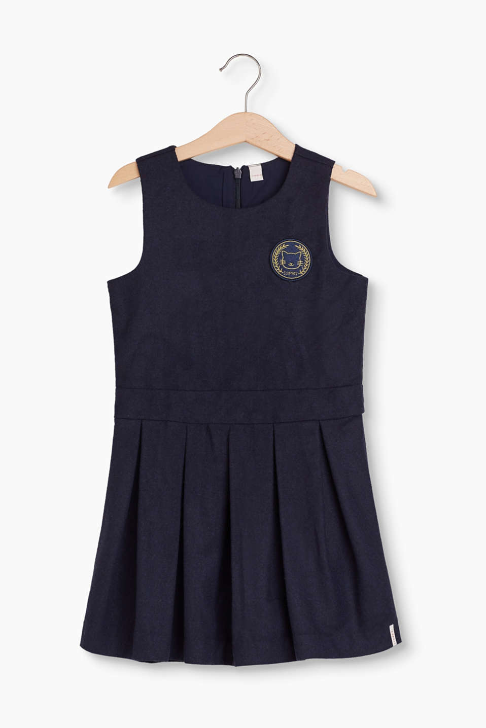 Great for so many occasions: flared dress made of soft wool felt with comfortable cotton lining