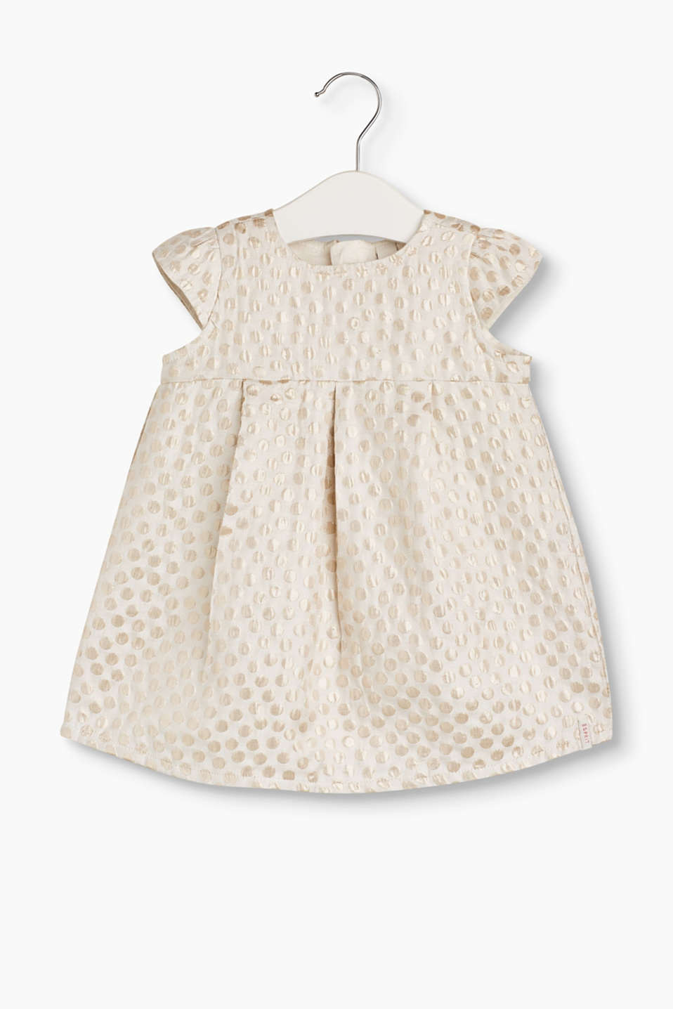 Esprit - Dress with a shimmering polka dot jacquard