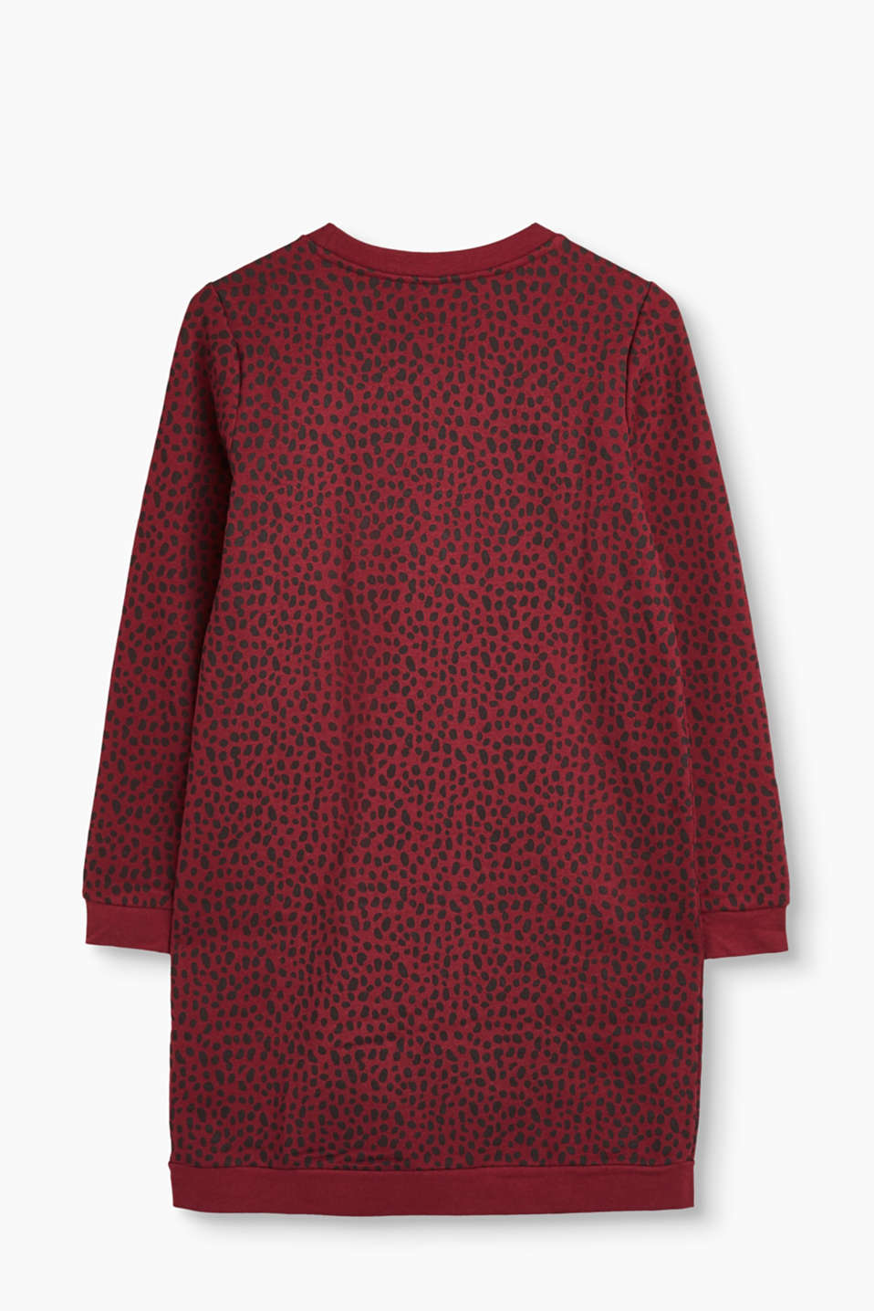 Embroidered sweatshirt dress, 100% cotton