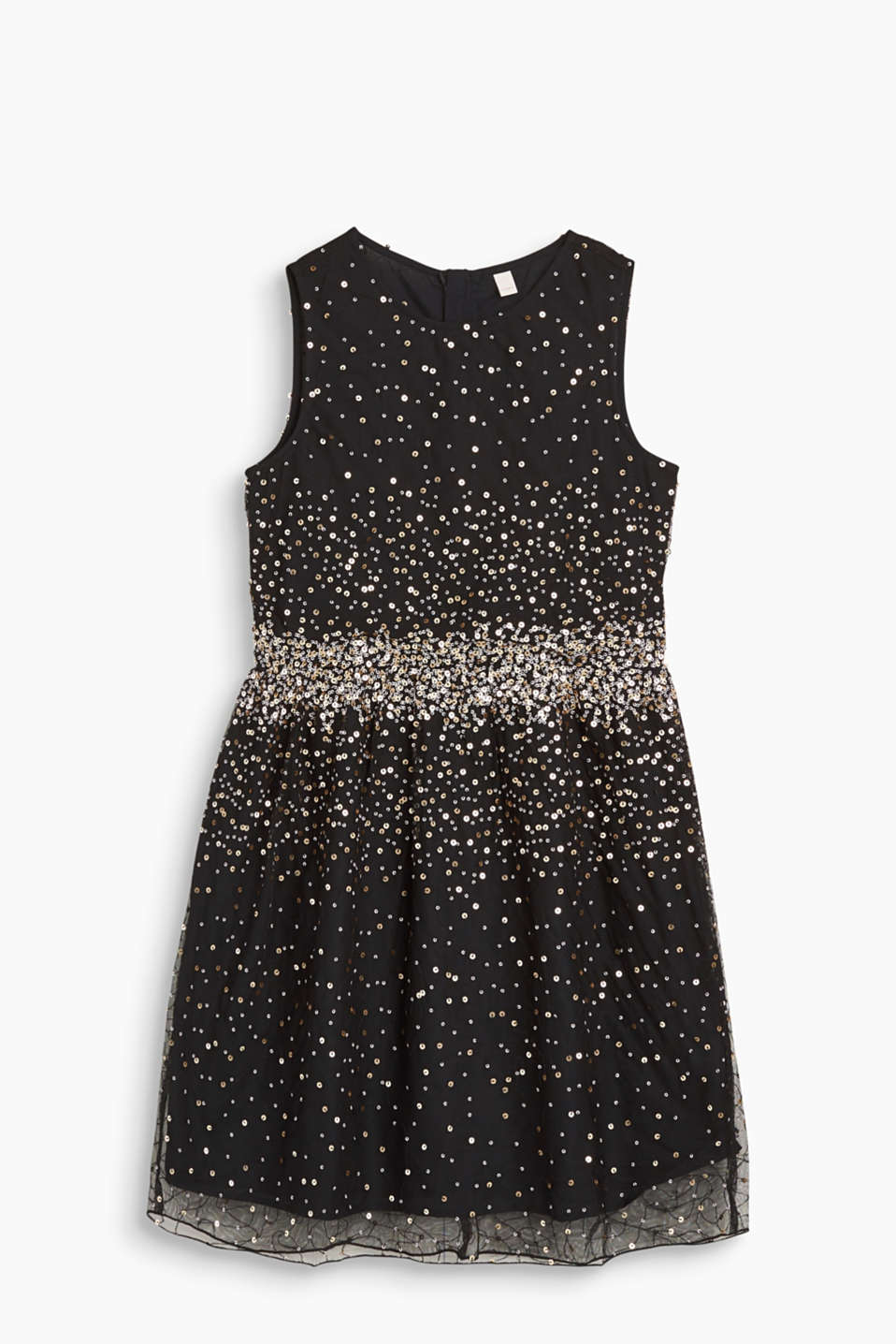 Esprit - Formal tulle dress with a sequin embroidery