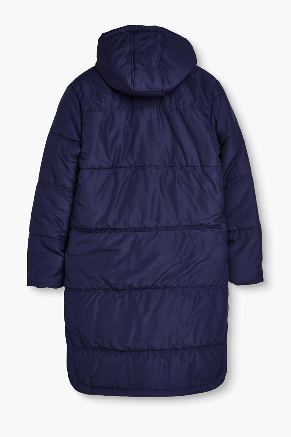 All-weather coat with hood