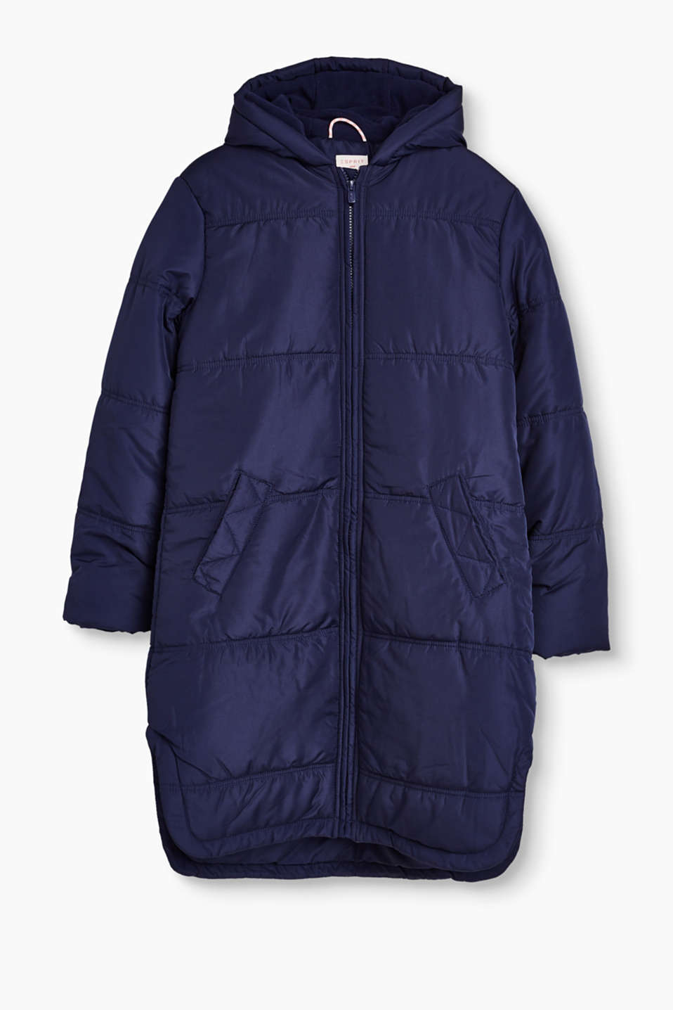 All-weather coat for kids, with fleece lining and hood