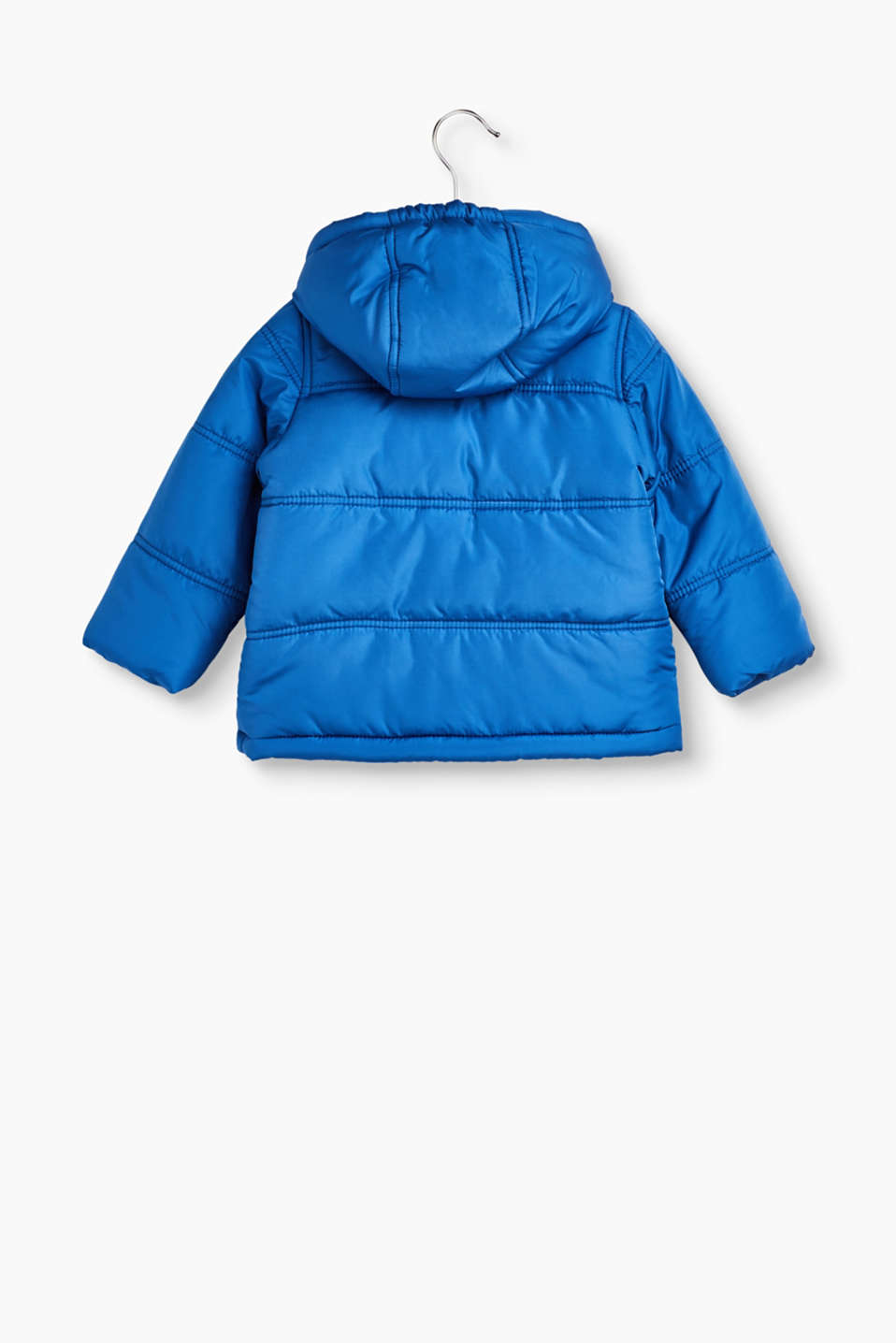 Padded quilted jacket with fleece lining