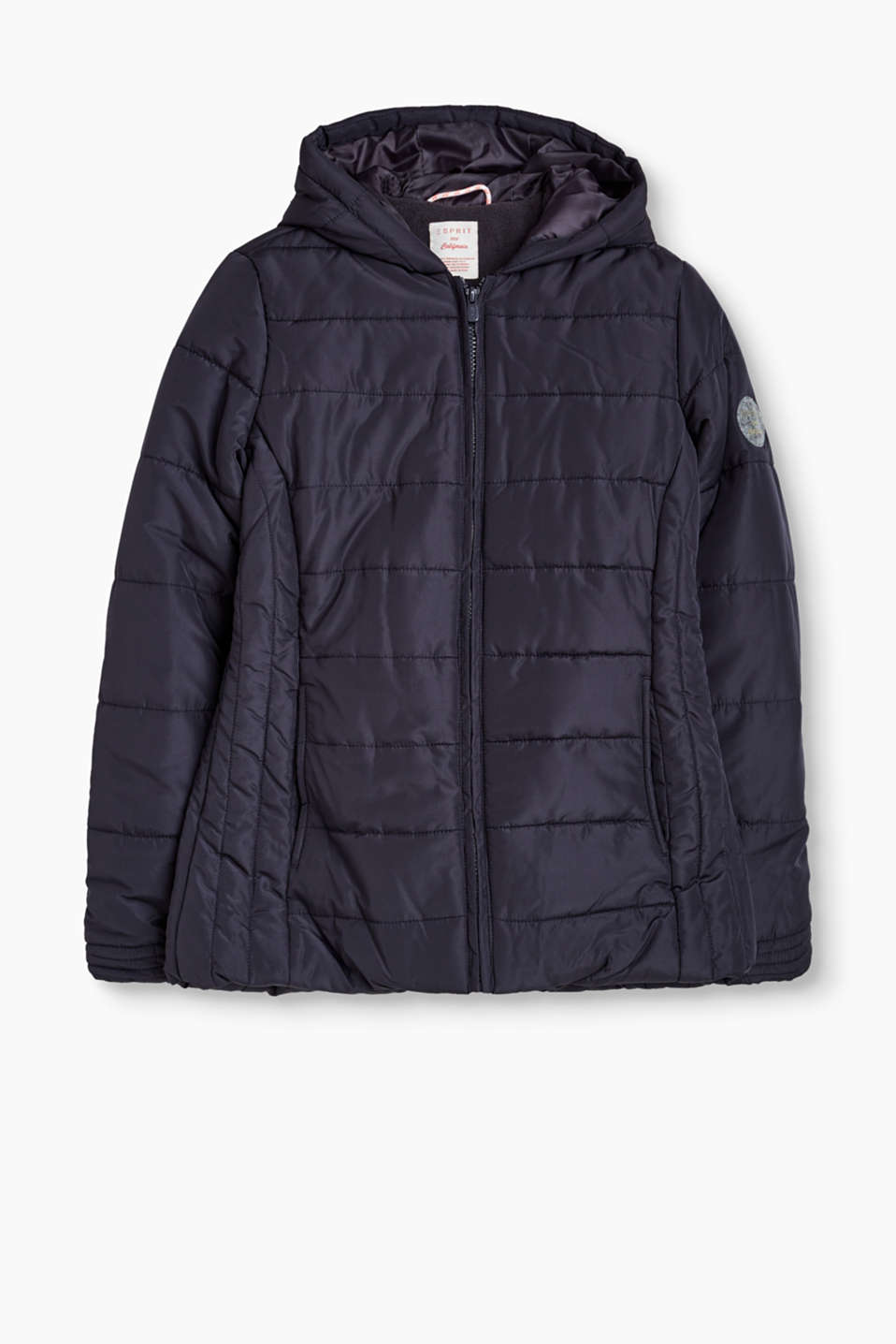Esprit - Padded jacket with polar fleece lining