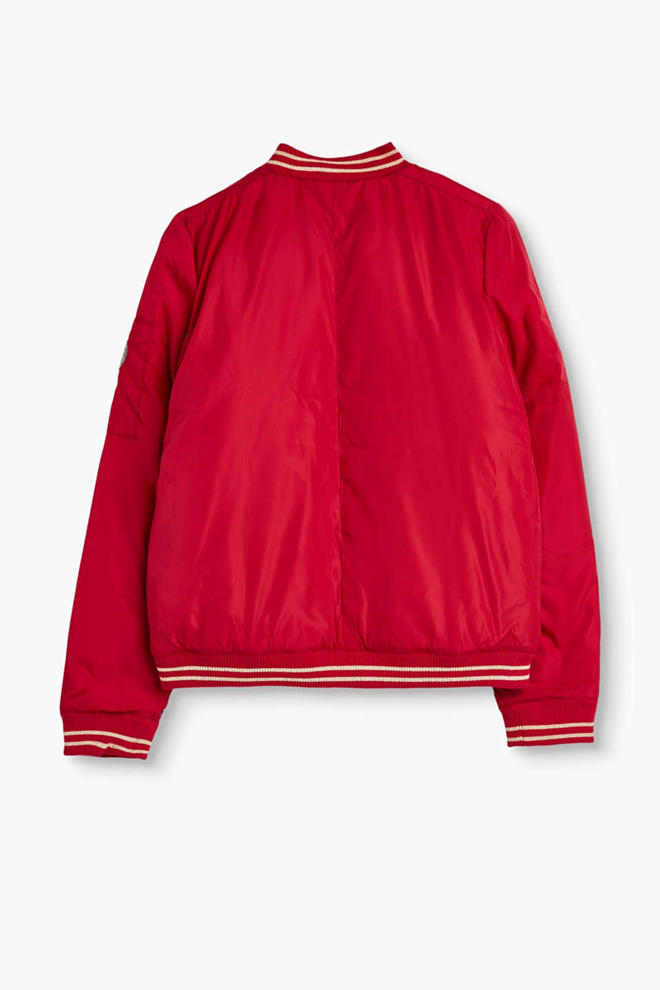Lightly lined bomber jacket